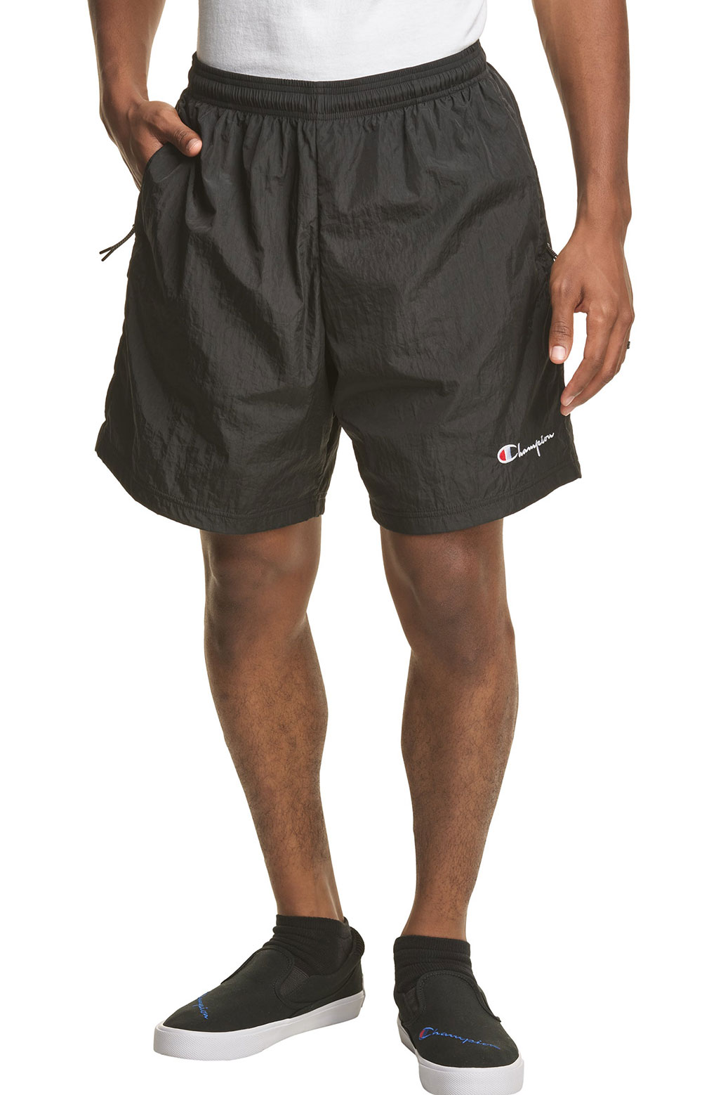 6-Inch Nylon Warm Up Shorts - Black 4