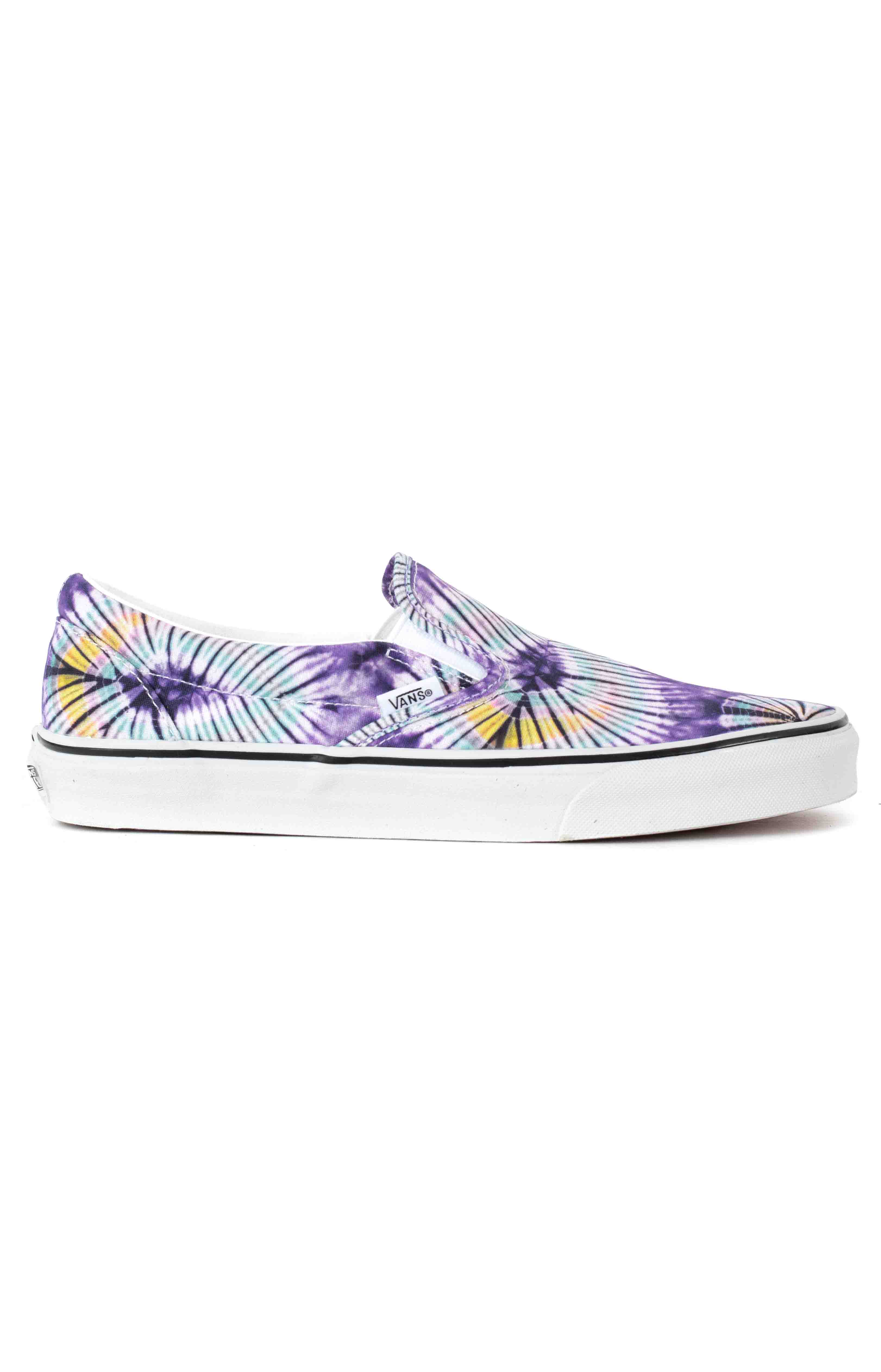 (AO86G6) New Age Classic Slip-On Shoes - Purple Tie-Dye