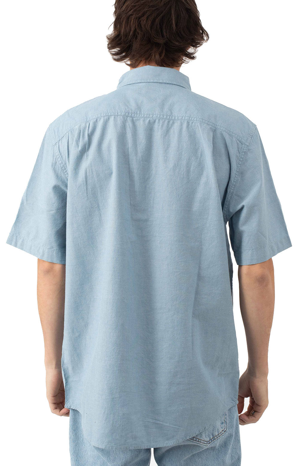 (104369) Original Fit MW S/S Button-Up Shirt - Blue Chambray  3