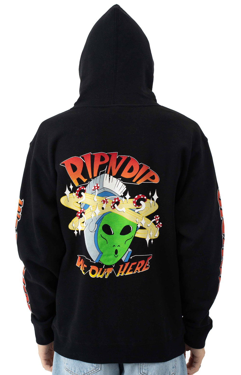 Out Of This World Pullover Hoodie - Black  4
