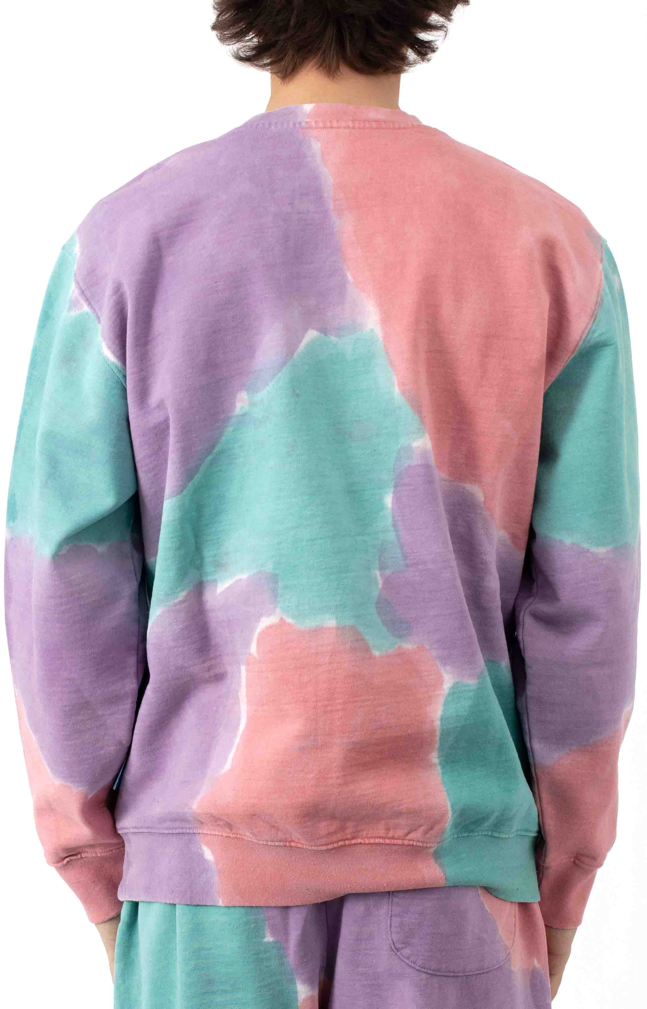 Sustainable Tie-Dye Crewneck - Purple Nitro Multi  3
