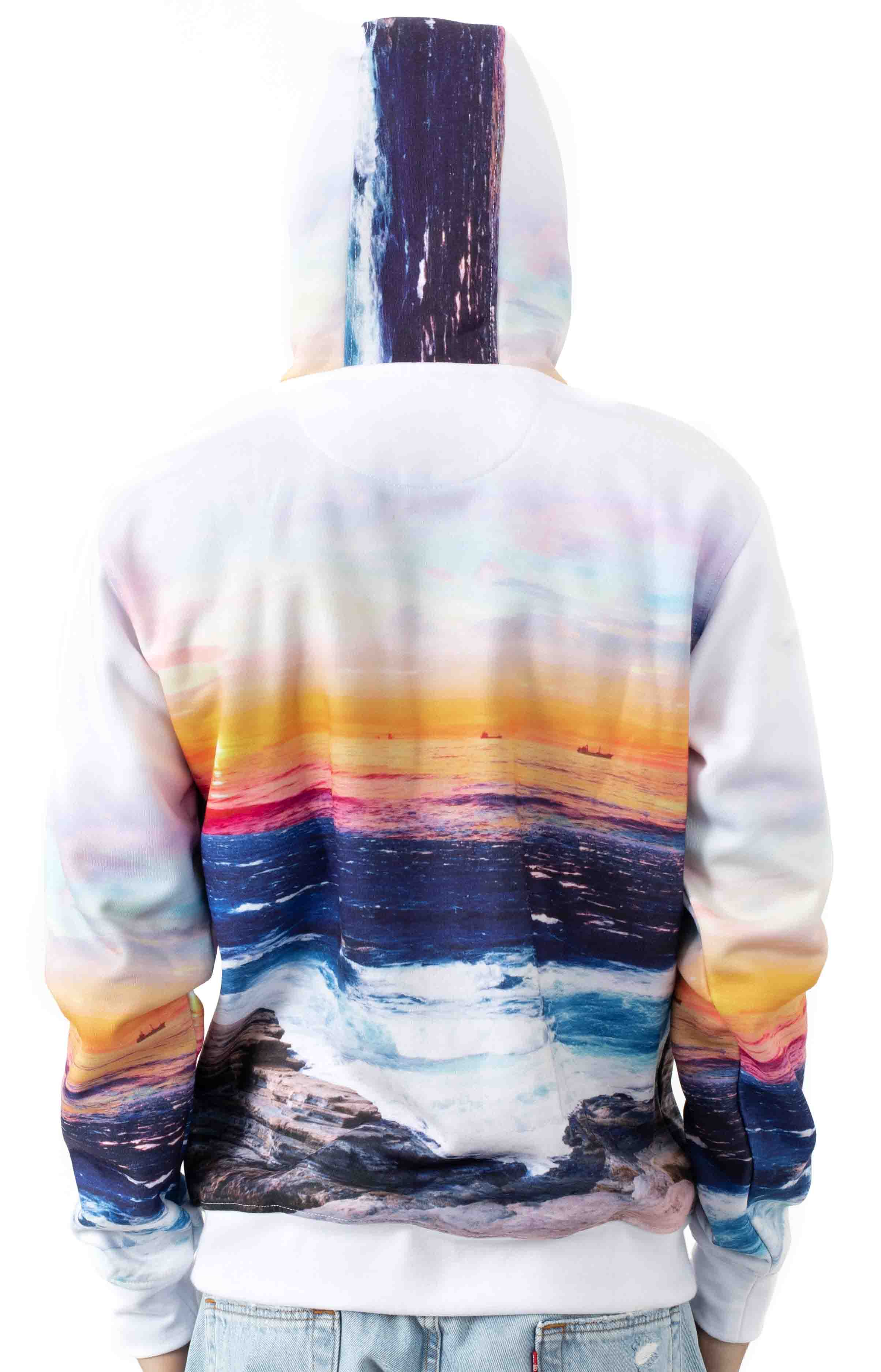 Sunset Pigeon Pullover Hoodie - White 3