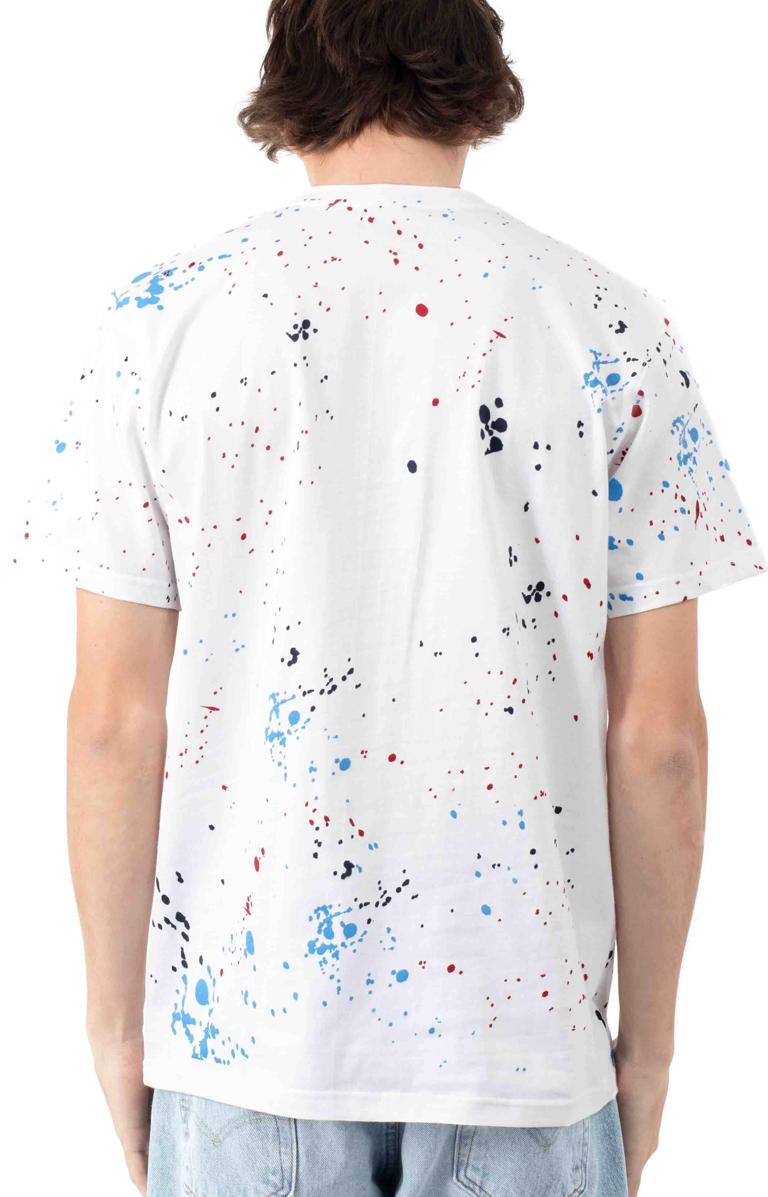 Drip Embroidered Pigeon T-Shirt - White  3