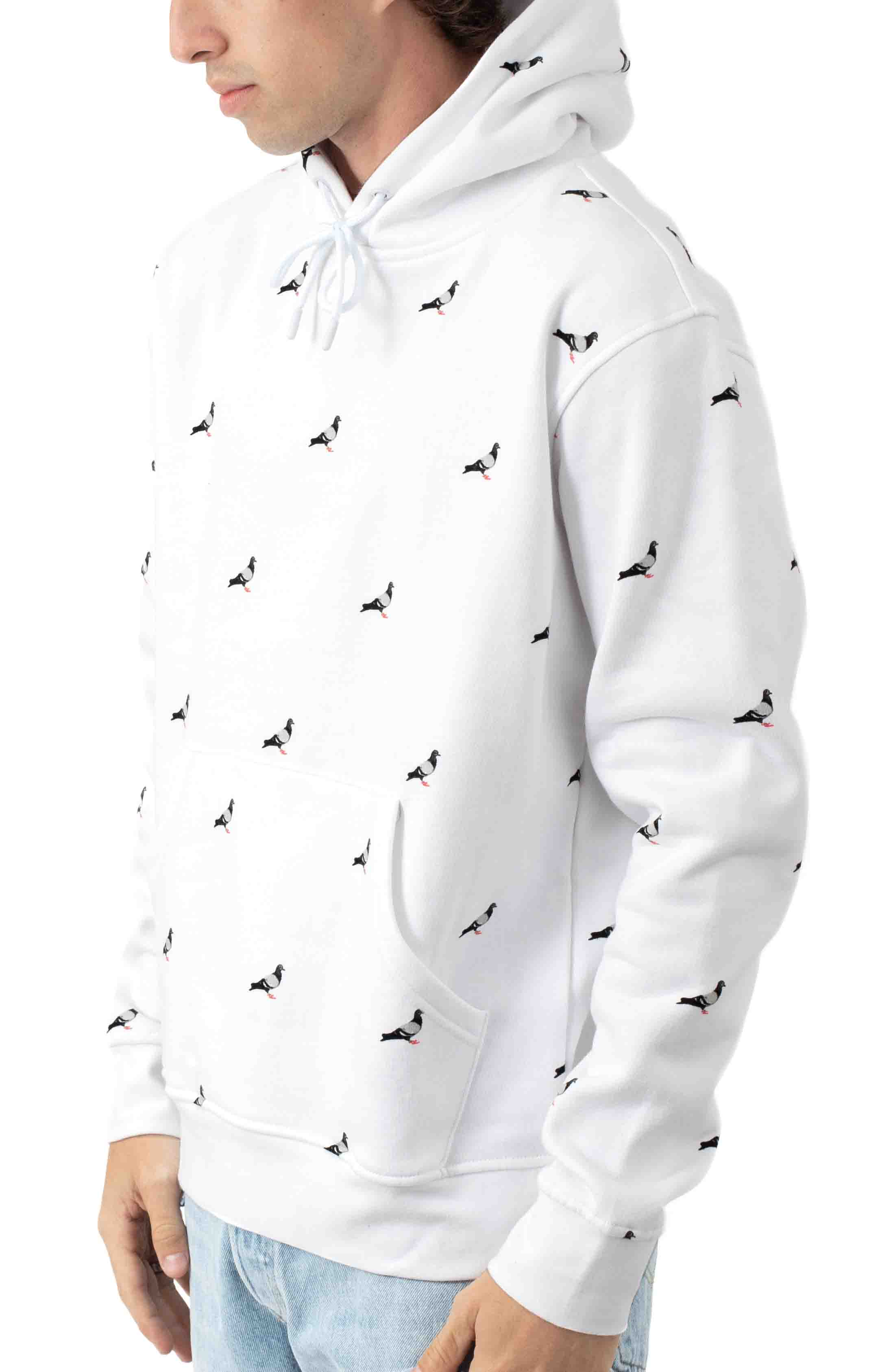 Allover Pigeon Pullover Hoodie - White 2