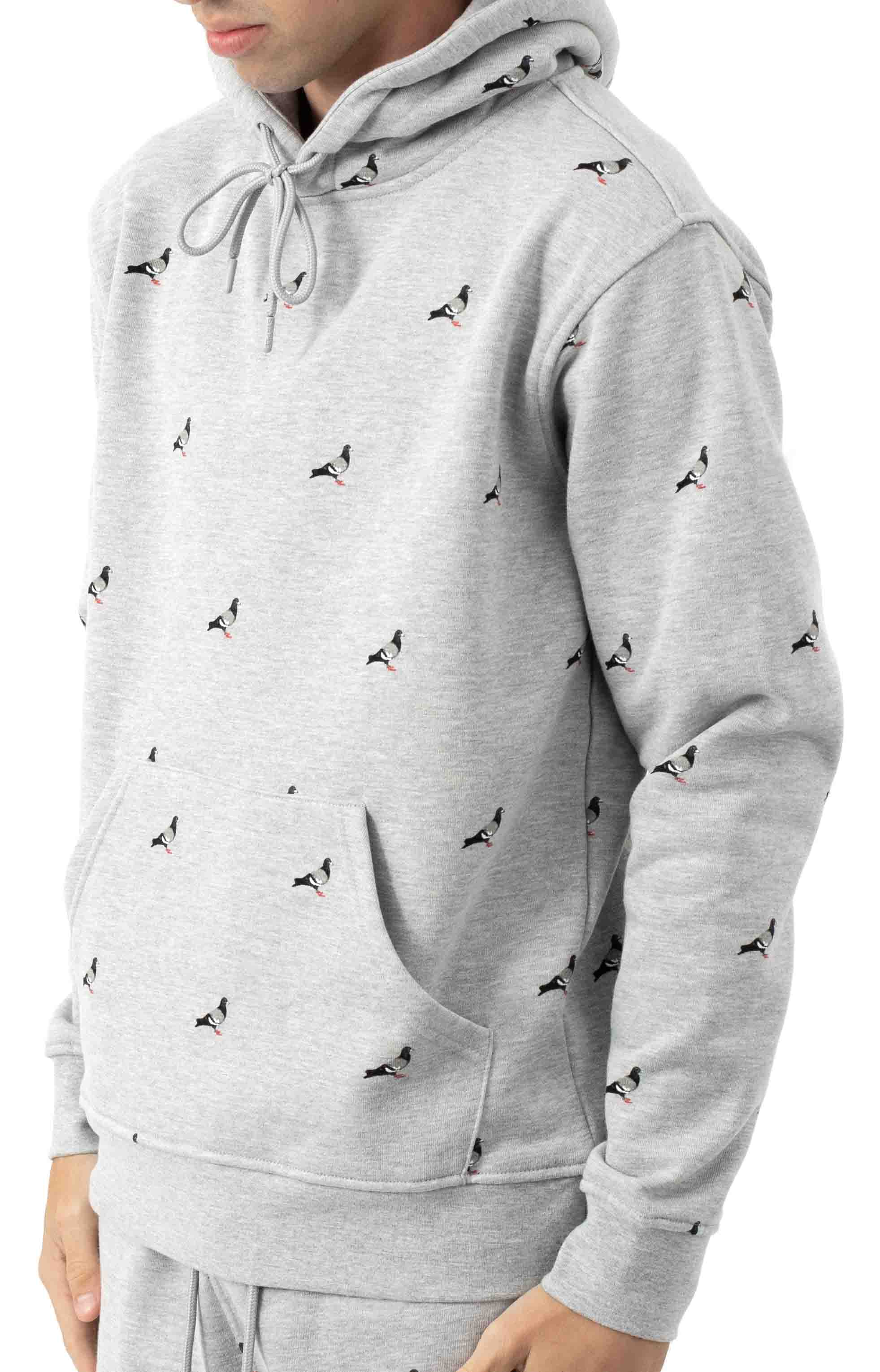Allover Pigeon Pullover Hoodie - Heather  2