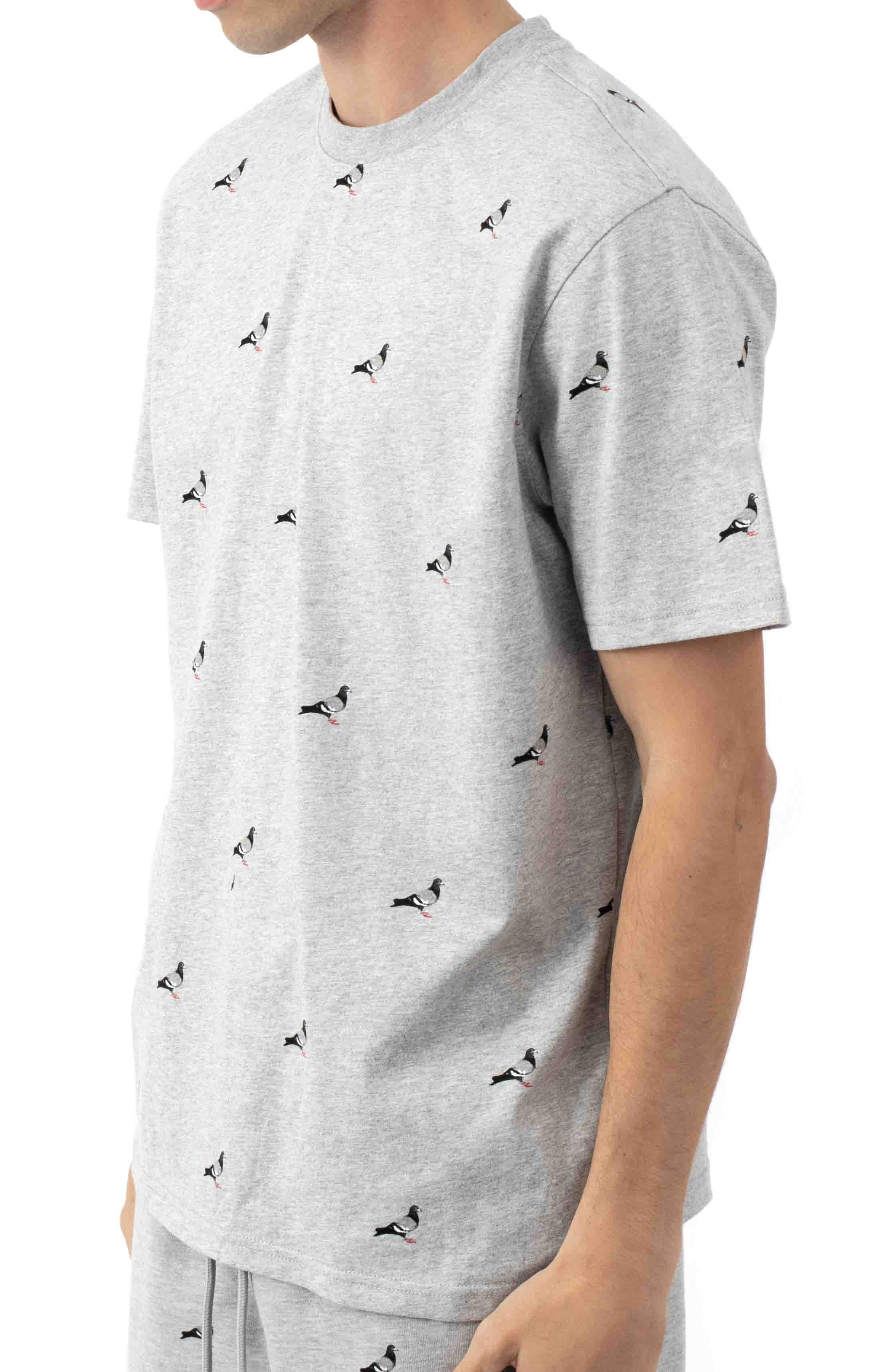 All Over Pigeon T-Shirt - Heather  2