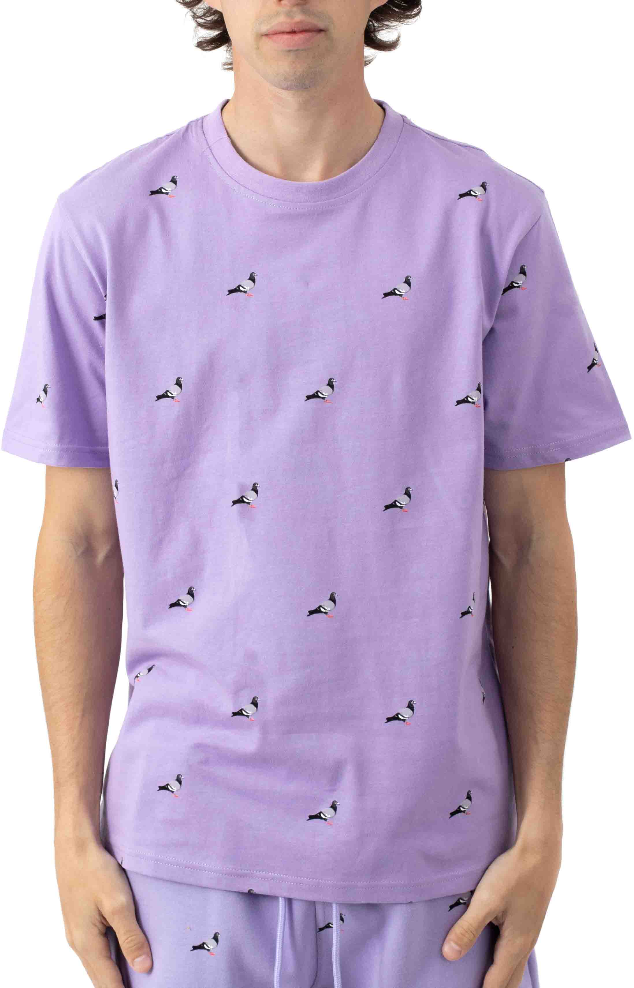 All Over Pigeon T-Shirt - Lilac