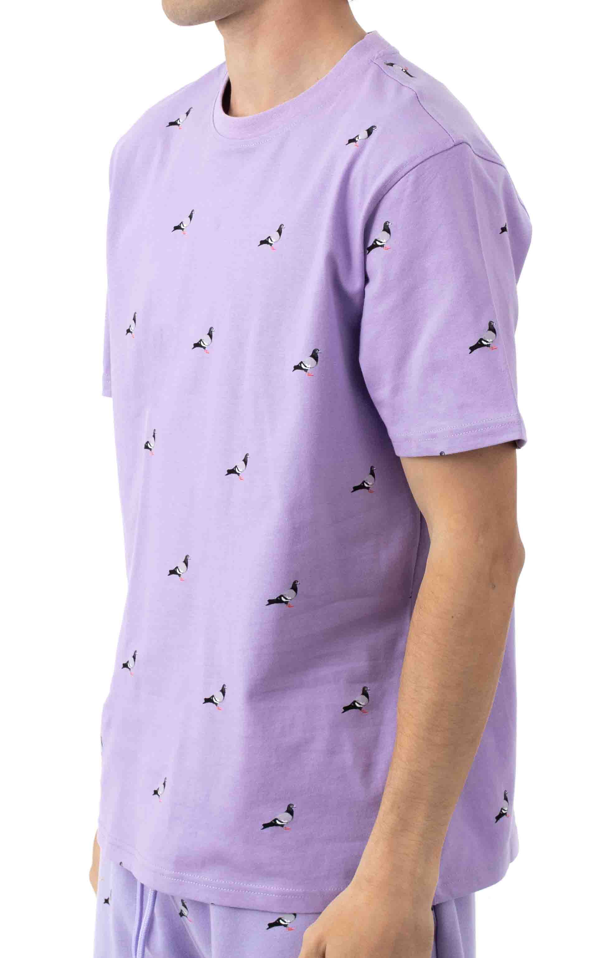 All Over Pigeon T-Shirt - Lilac 2