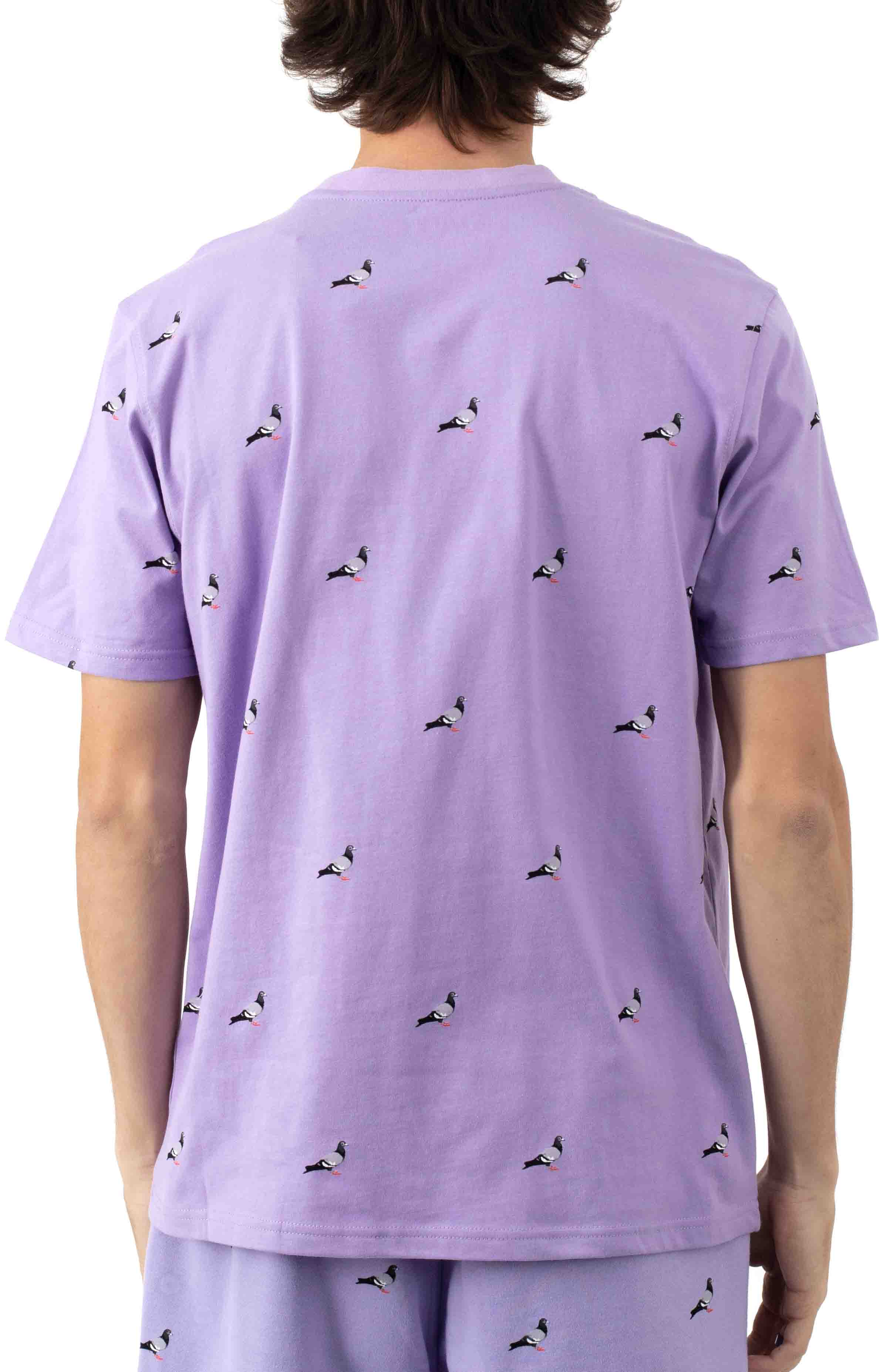 All Over Pigeon T-Shirt - Lilac 3
