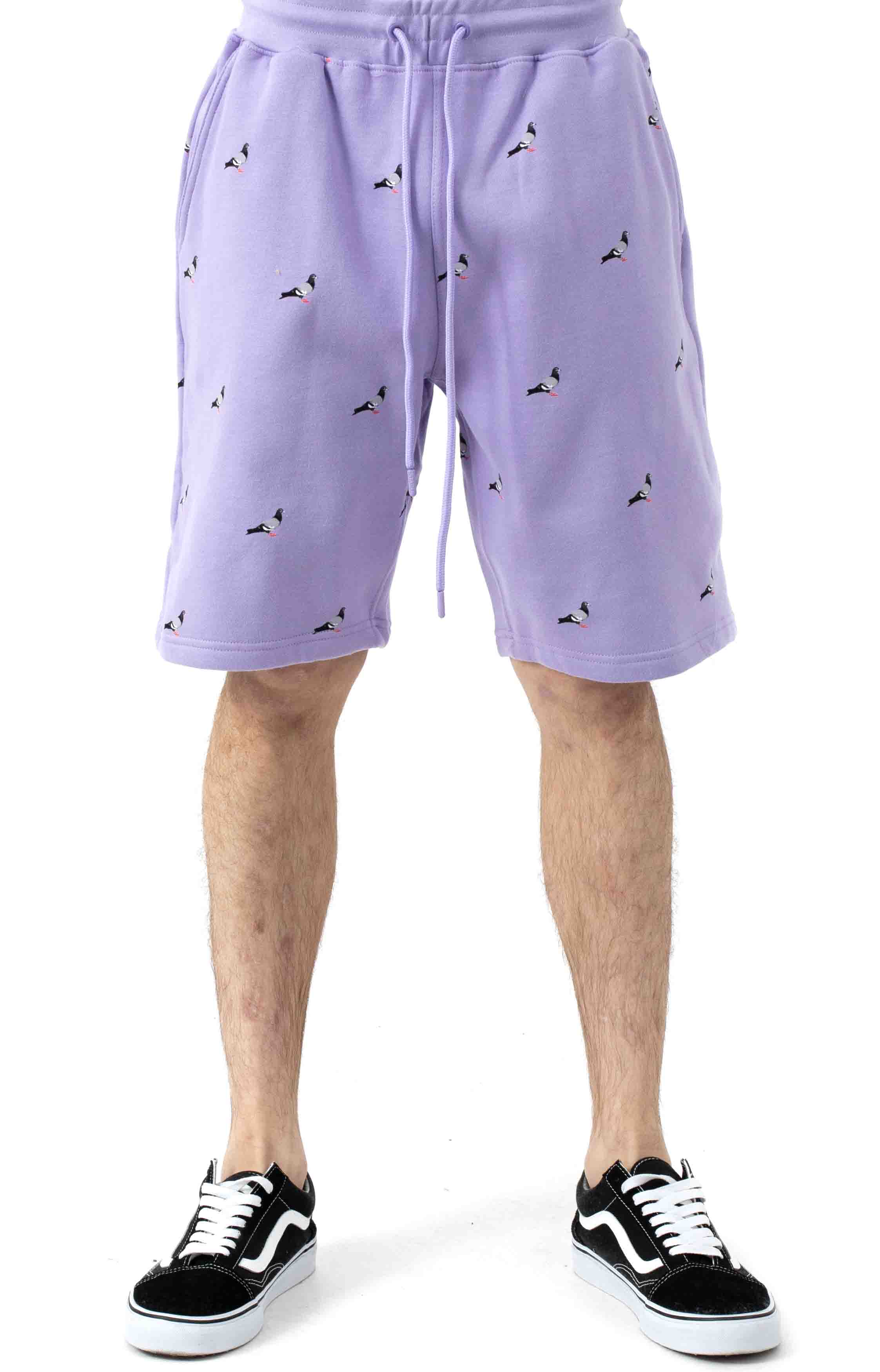 All Over Pigeon Sweatshorts - Lilac 2