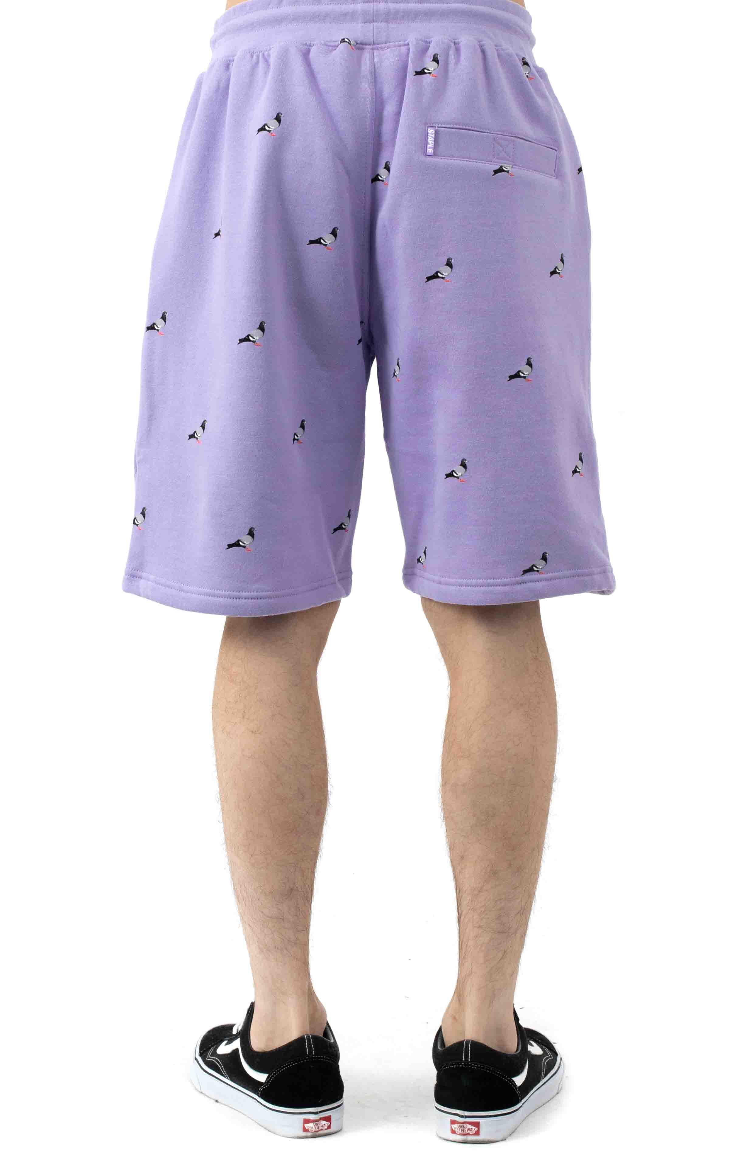 All Over Pigeon Sweatshorts - Lilac 3