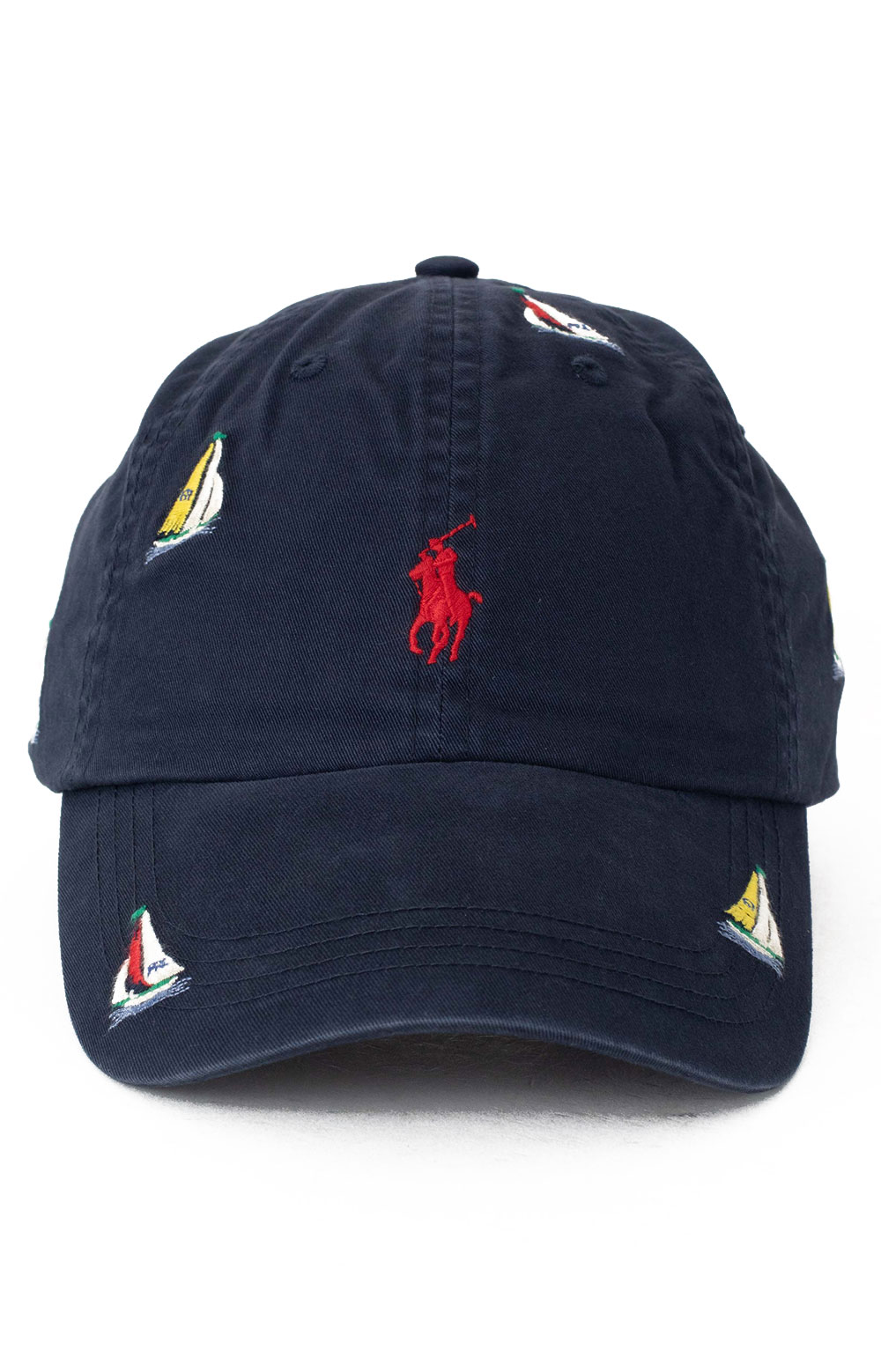 Embroidered Sailboat Ball Cap - Navy 2
