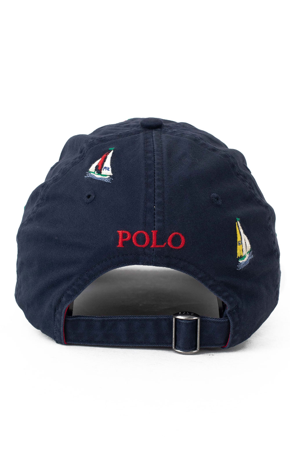 Embroidered Sailboat Ball Cap - Navy 3