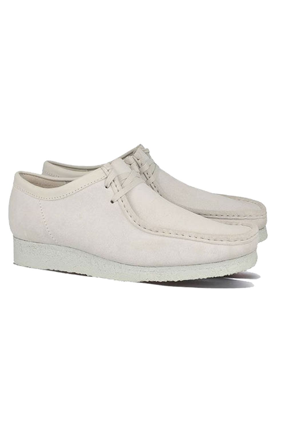(26158421) Wallabee Shoes - White Suede 5