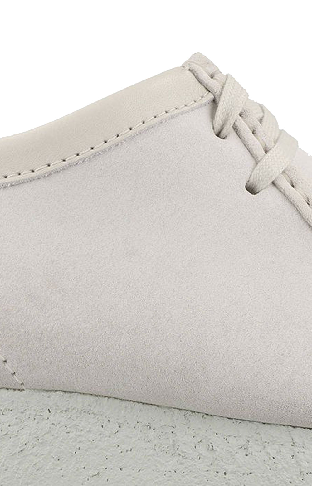 (26158421) Wallabee Shoes - White Suede 7