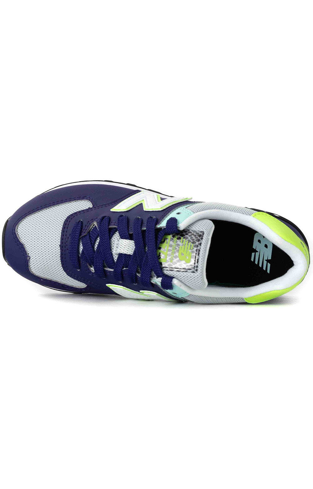 (WL574CT2) WL574 Shoes - Virtual Violet/Bleached Lime Glo 2