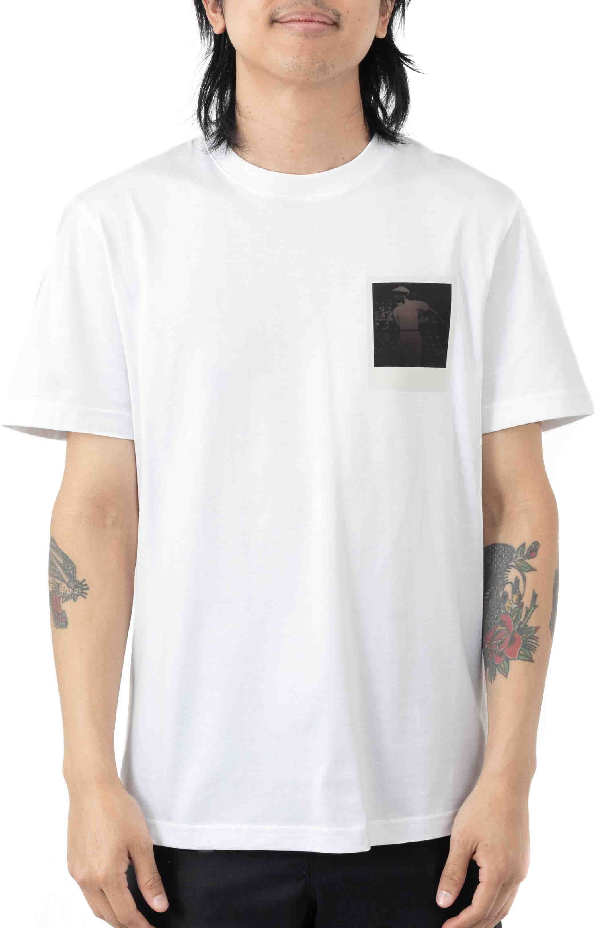 Breathable Thermosensitive Badge T-Shirt - White