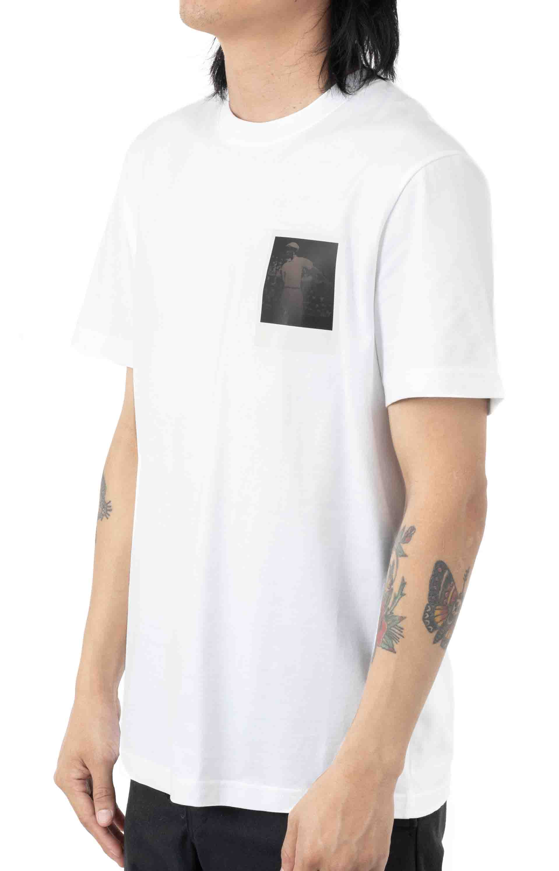 Breathable Thermosensitive Badge T-Shirt - White  2