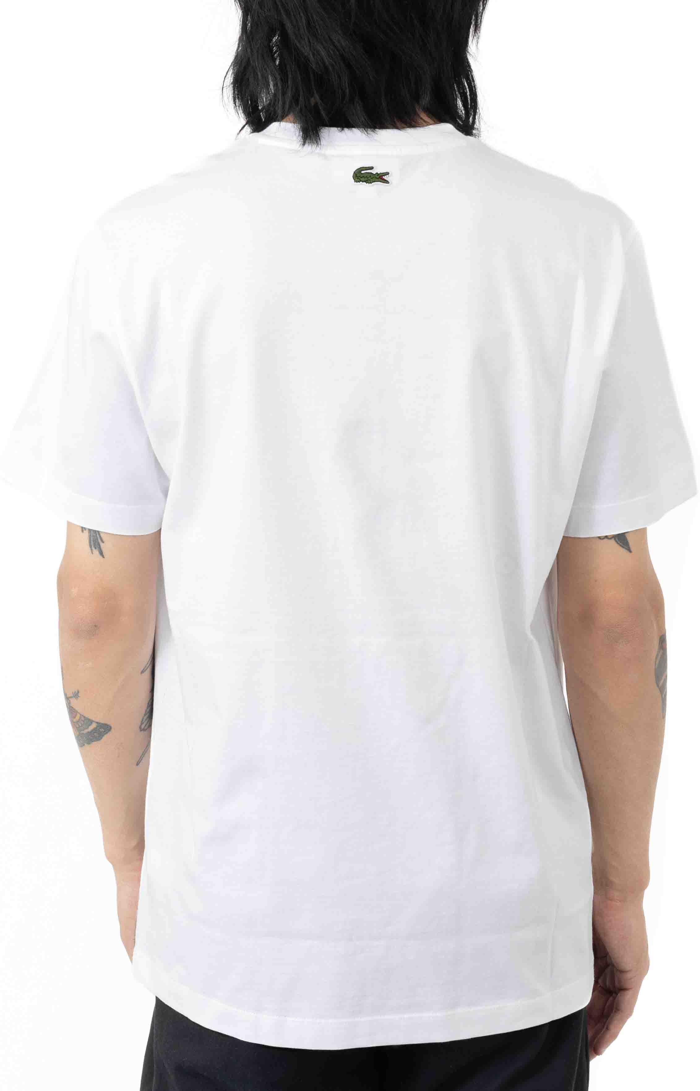 Breathable Thermosensitive Badge T-Shirt - White  3