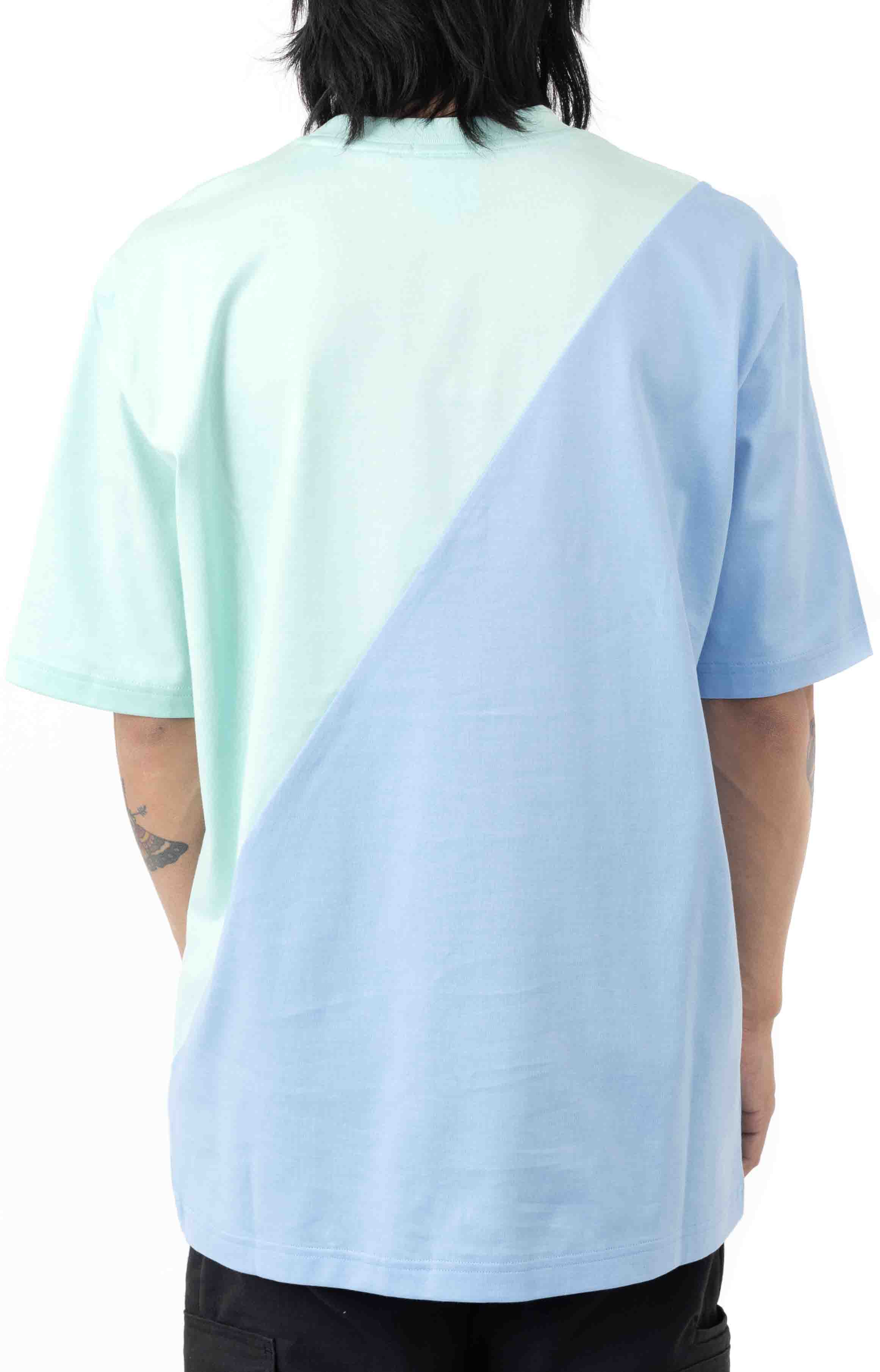 LIVE Loose Fit Colorblock T-Shirt - Turquoise/Blue 3