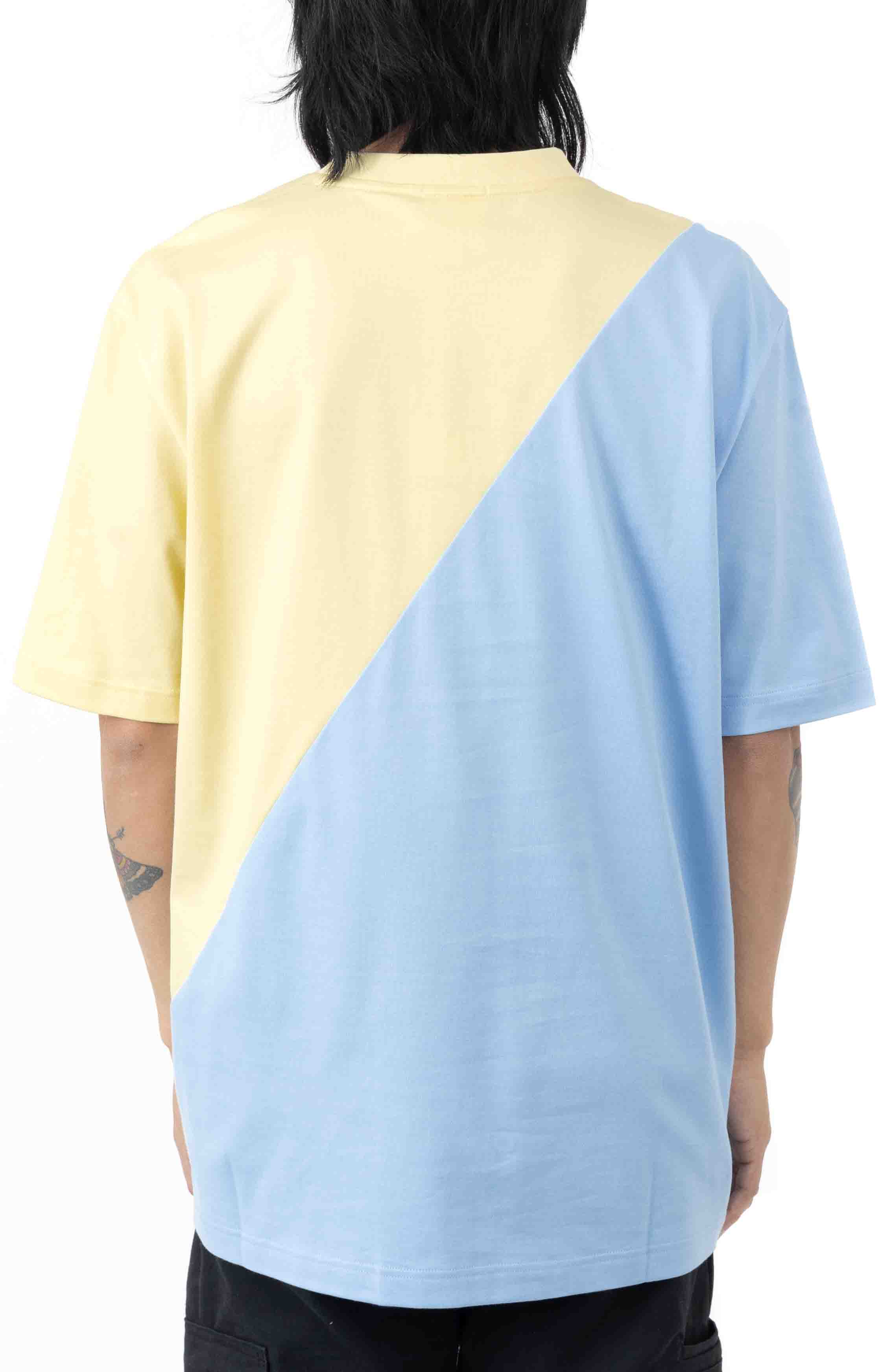 LIVE Loose Fit Colorblock T-Shirt - Yellow/Blue 3