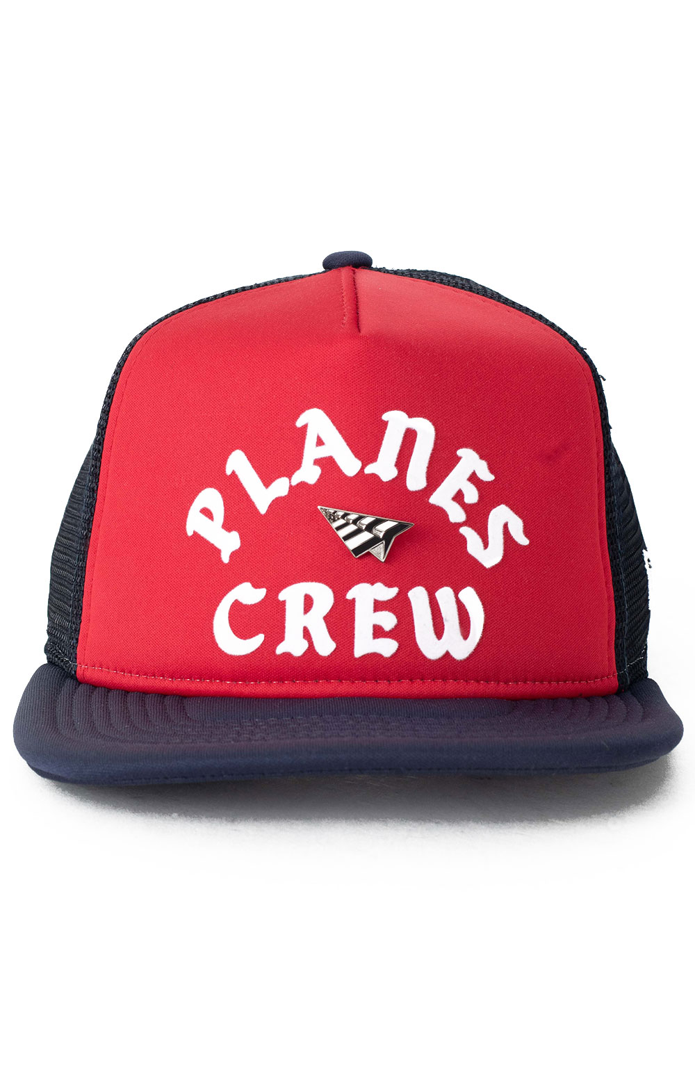 Planes Crew Trucker Two Tone Old School Snap-Back Hat - Red/Navy 2