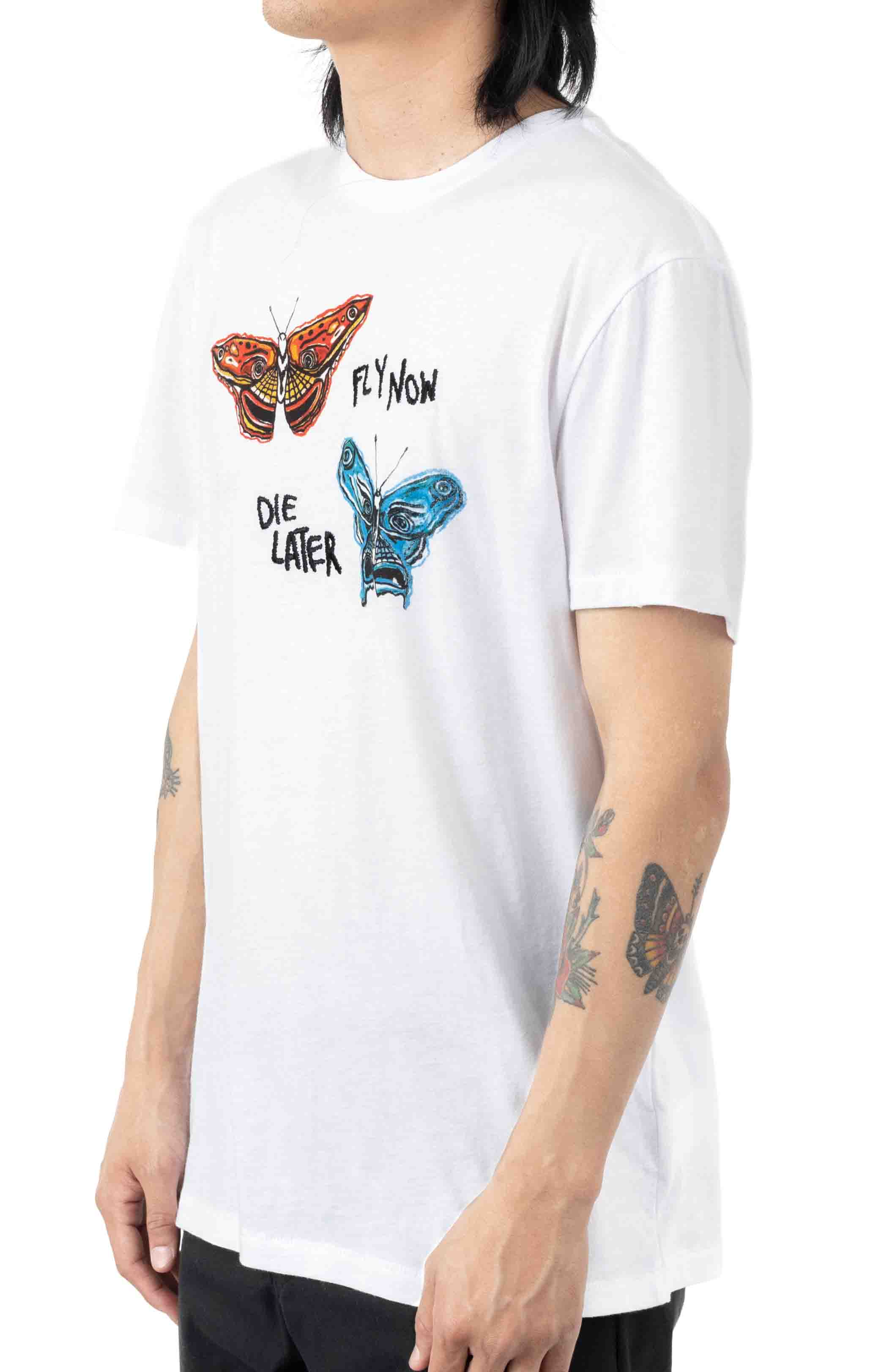 BB Fly Now Tailored  T-Shirt - White  2