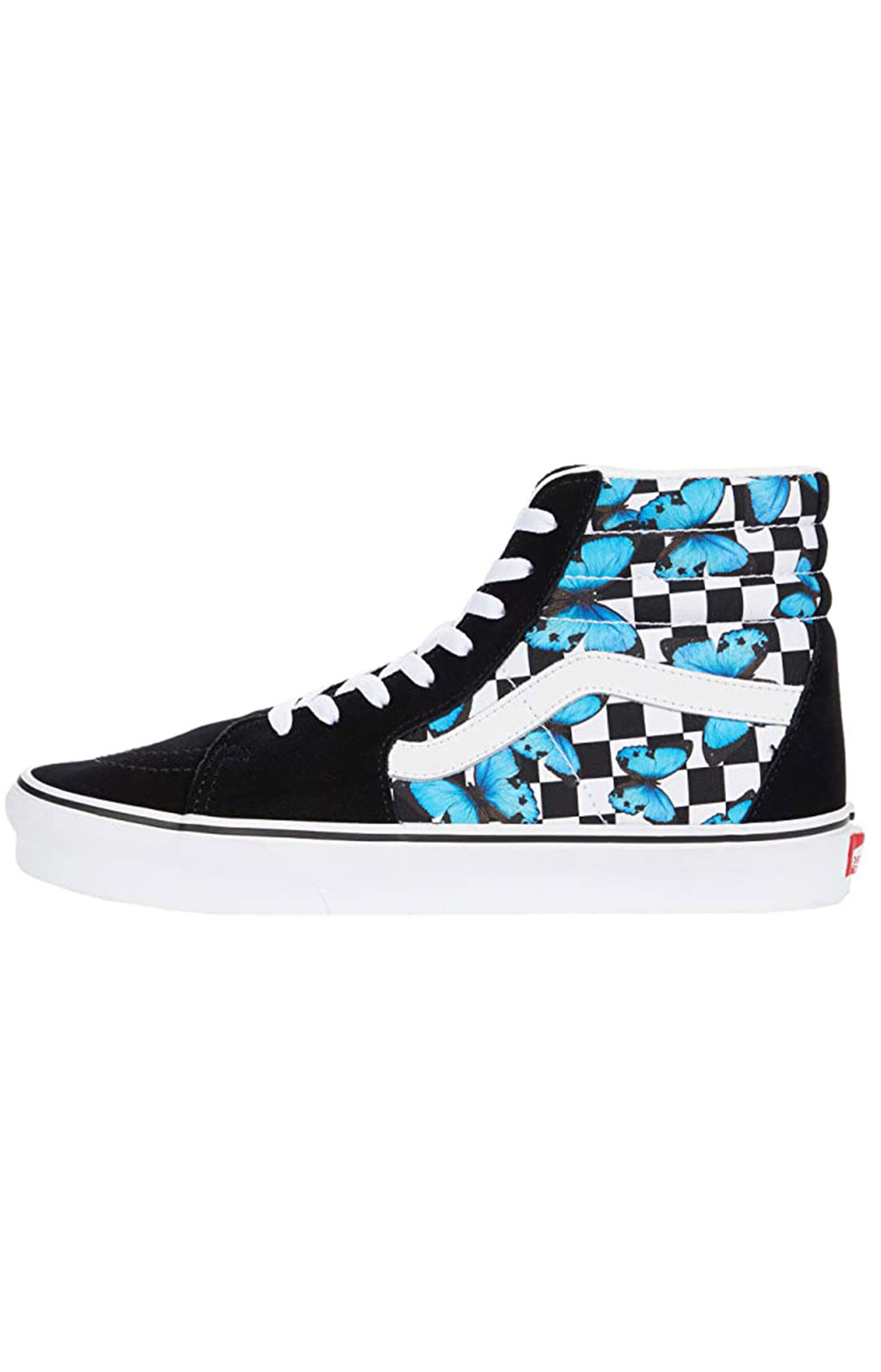 (HXV5KK) Butterfly Checkerboard Sk8-Hi Shoes  3