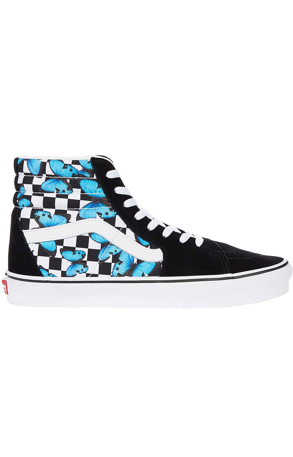 (HXV5KK) Butterfly Checkerboard Sk8-Hi Shoes