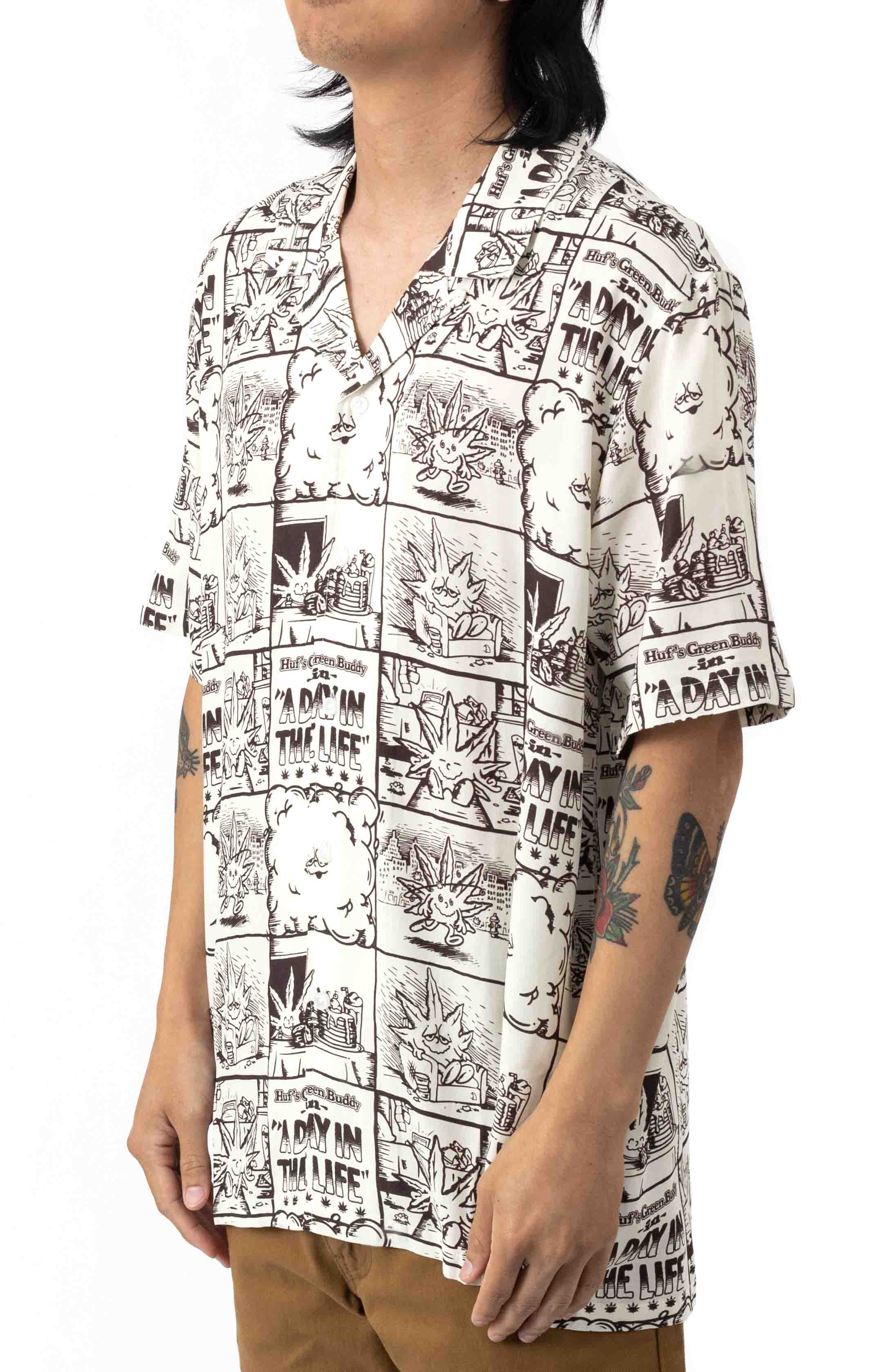 Day In The Life Button-Up Shirt - Natural  2