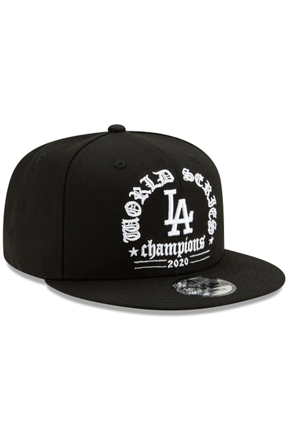 Los Angeles Dodgers 2020 World Series Champions 9FIFTY Snap-Back Hat - Black 3