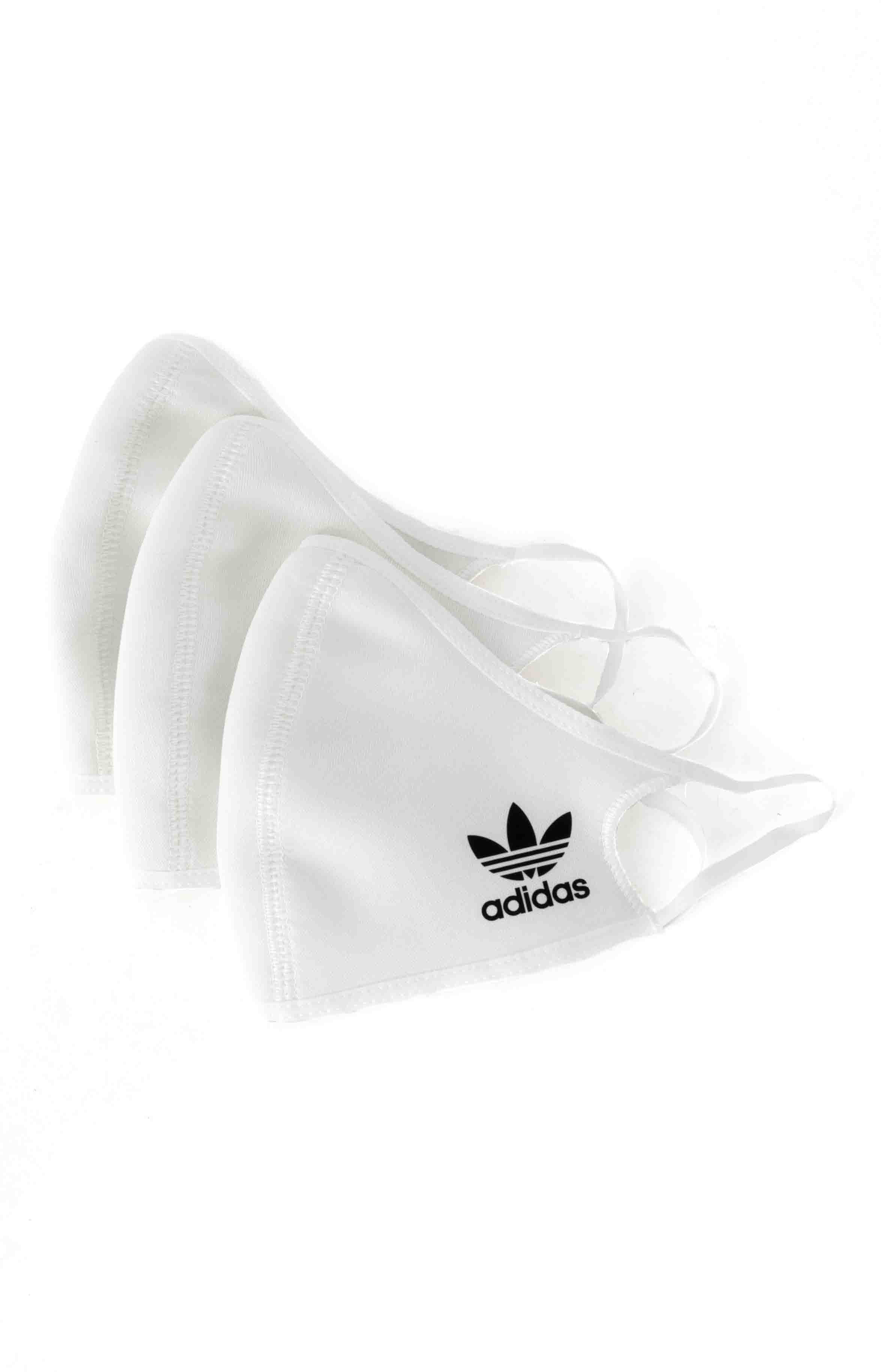 Face Covers 3 Pack - White  2