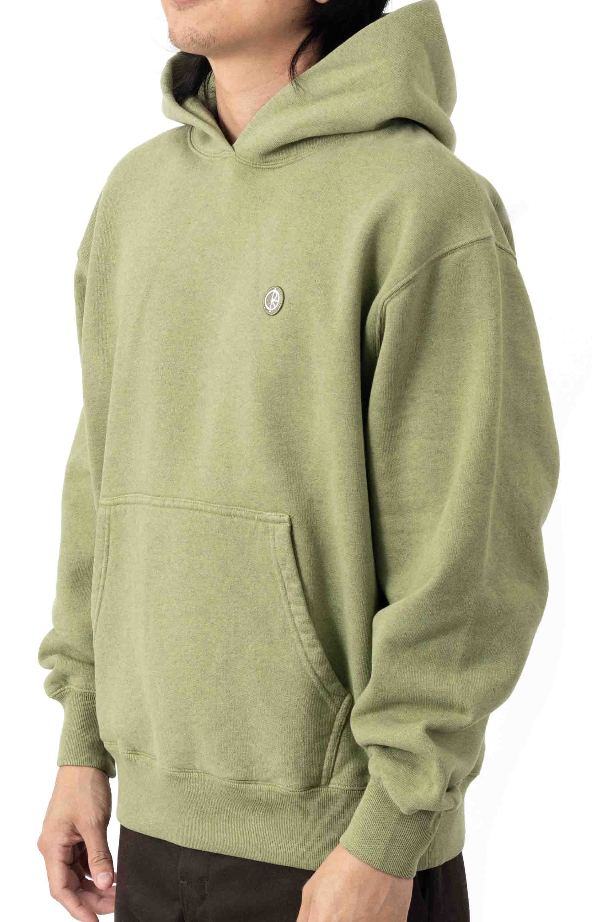 Patch Pullover Hoodie - Heather Green 2