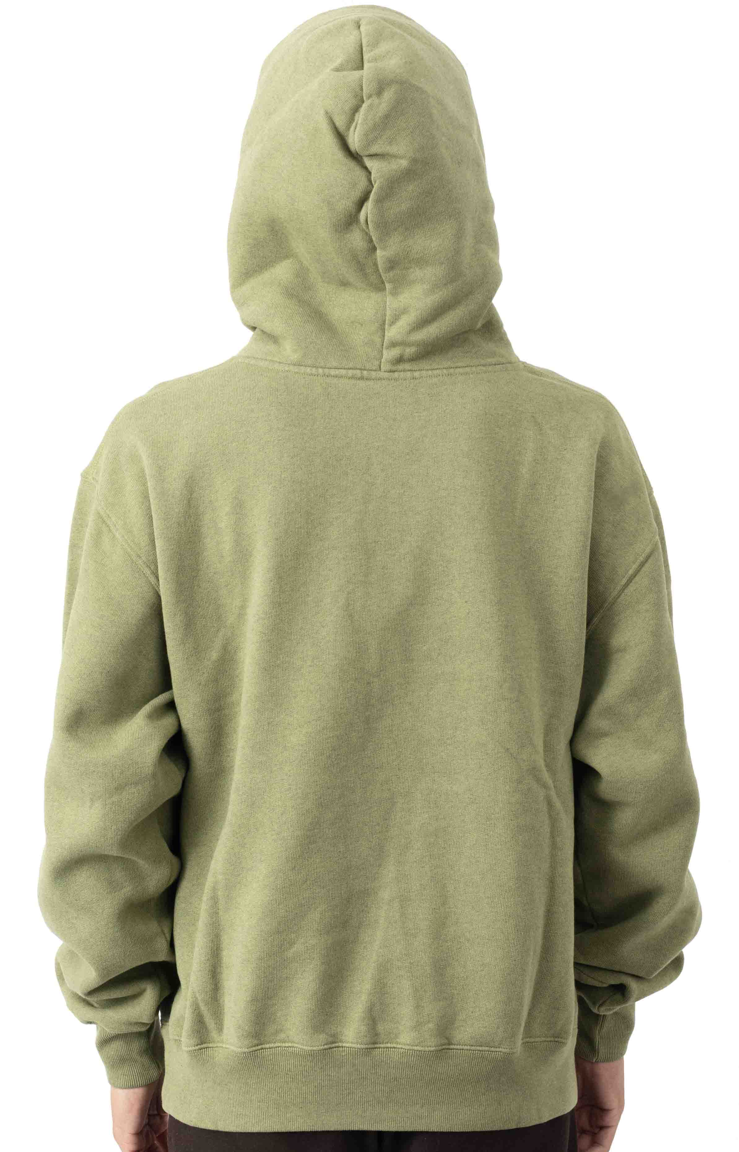 Patch Pullover Hoodie - Heather Green 3