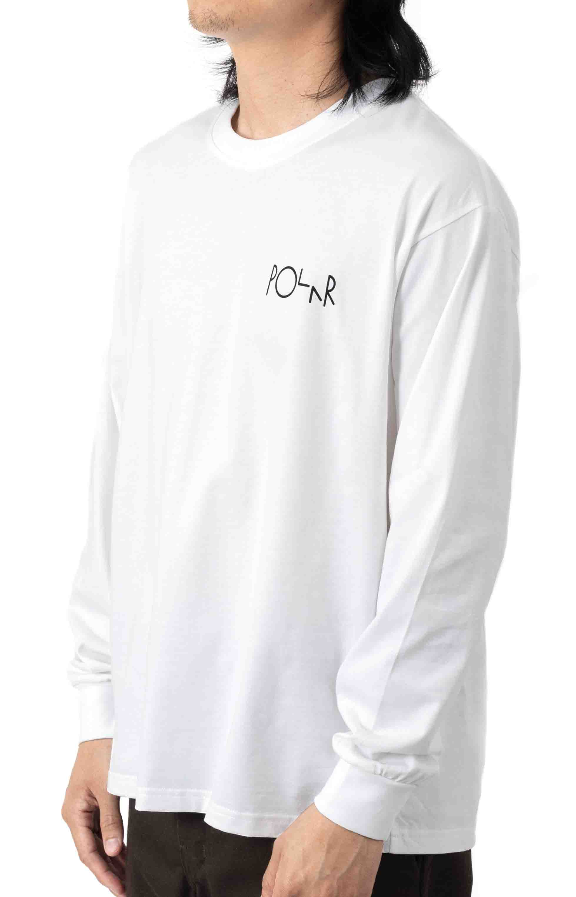 Sequence Fill Logo L/S Shirt - White  2