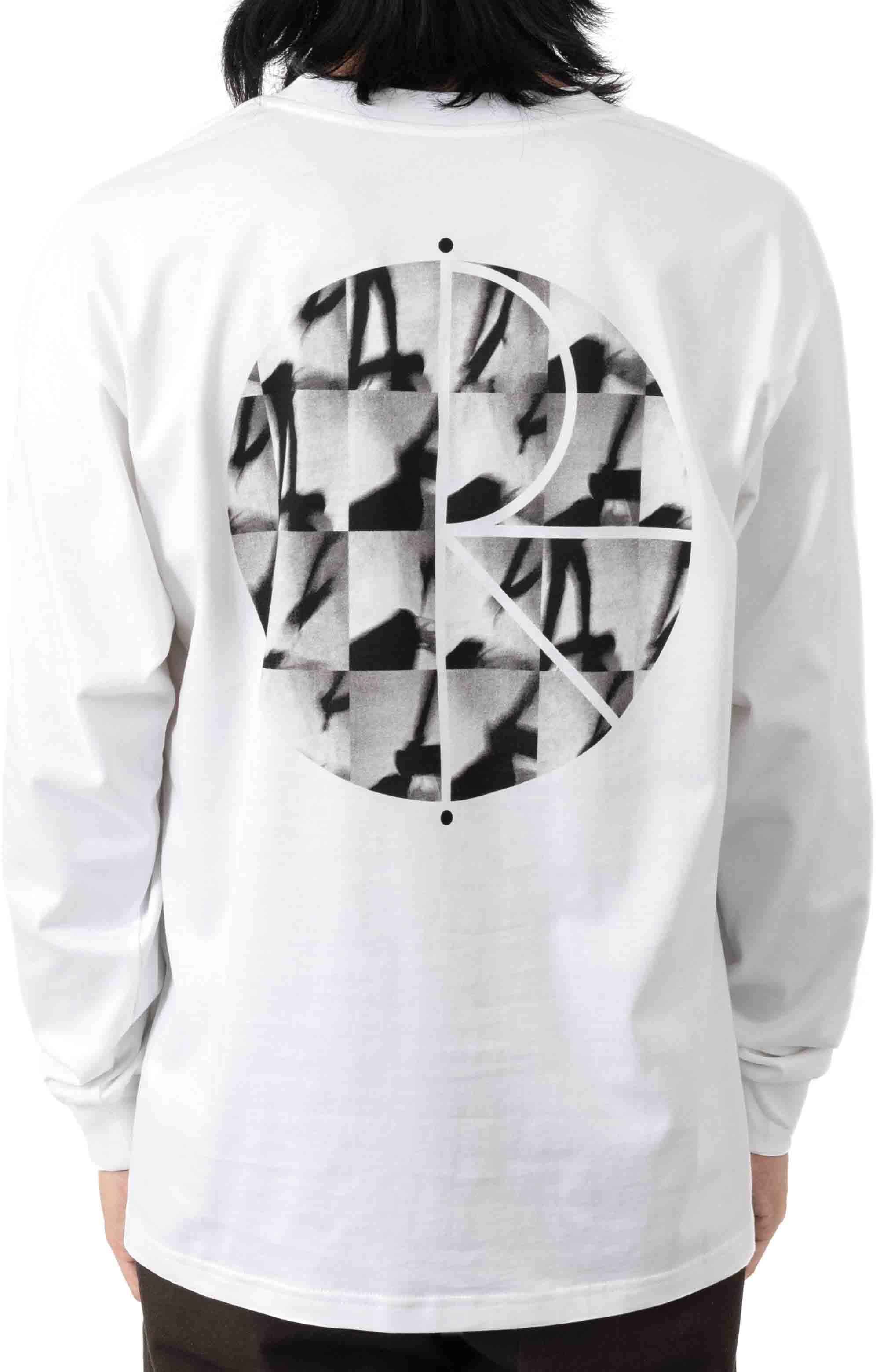 Sequence Fill Logo L/S Shirt - White  3