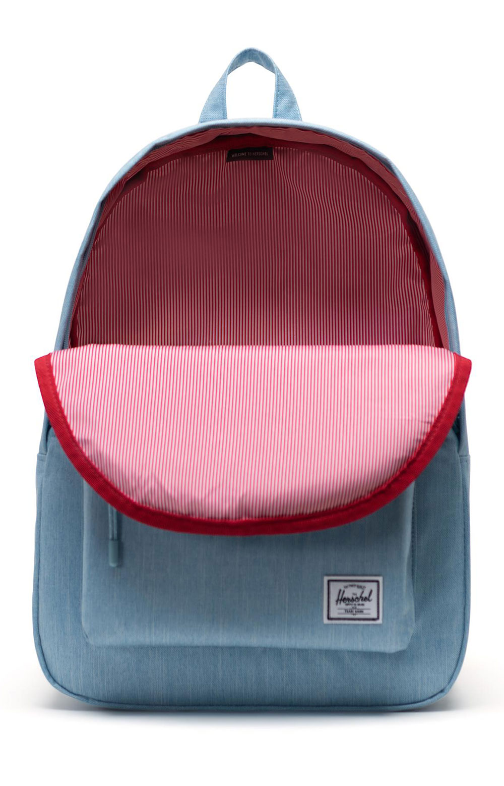 Classic Backpack - Light Denim Crosshatch 2