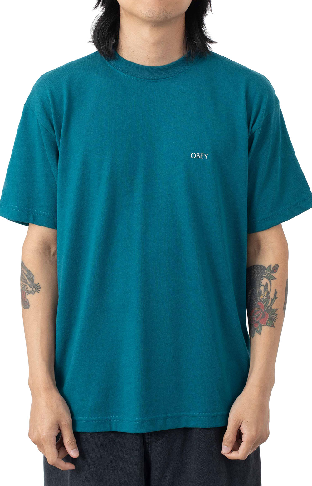 Obey Windmill T-Shirt - Shaded Spruce  2