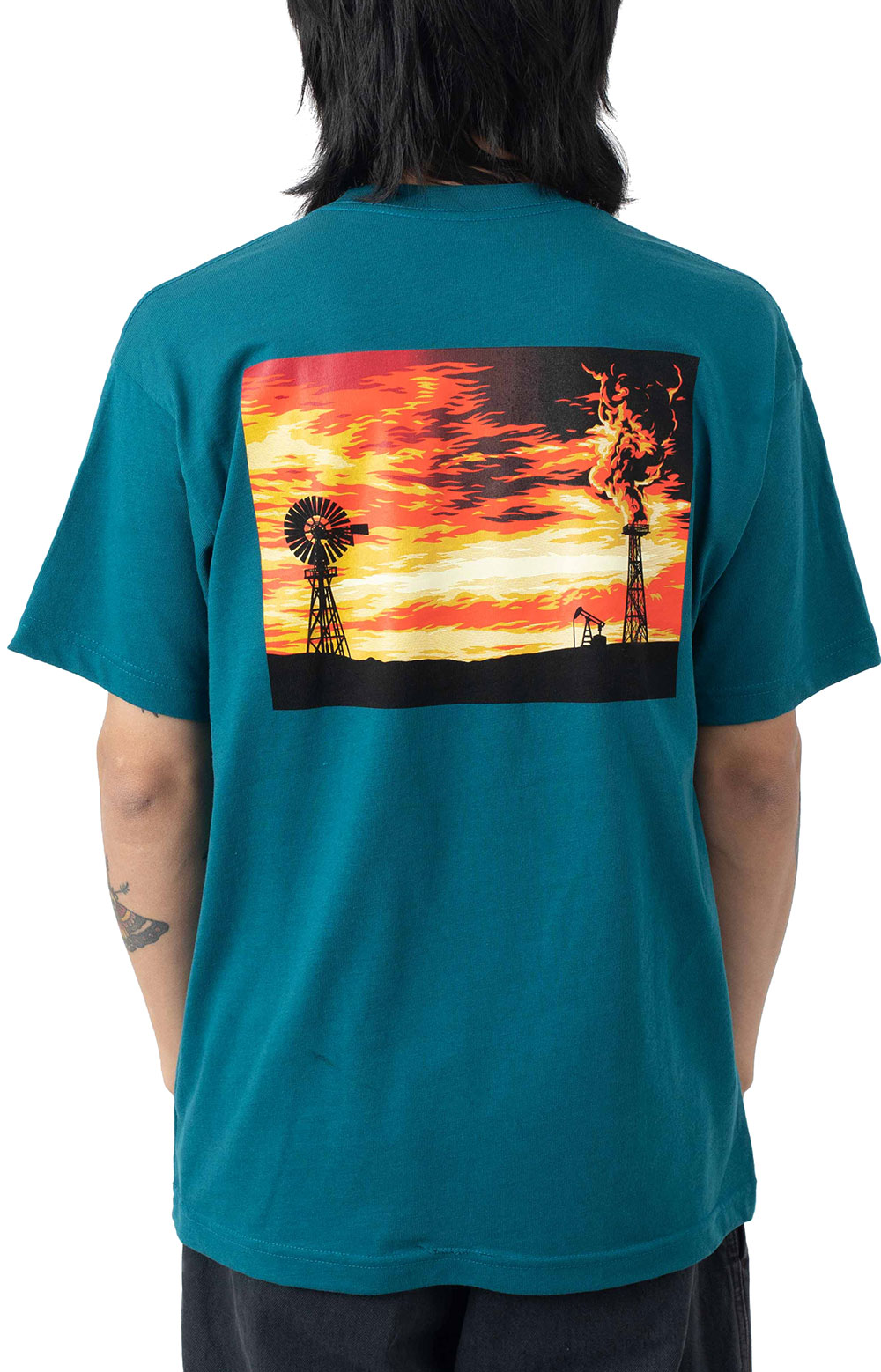Obey Windmill T-Shirt - Shaded Spruce