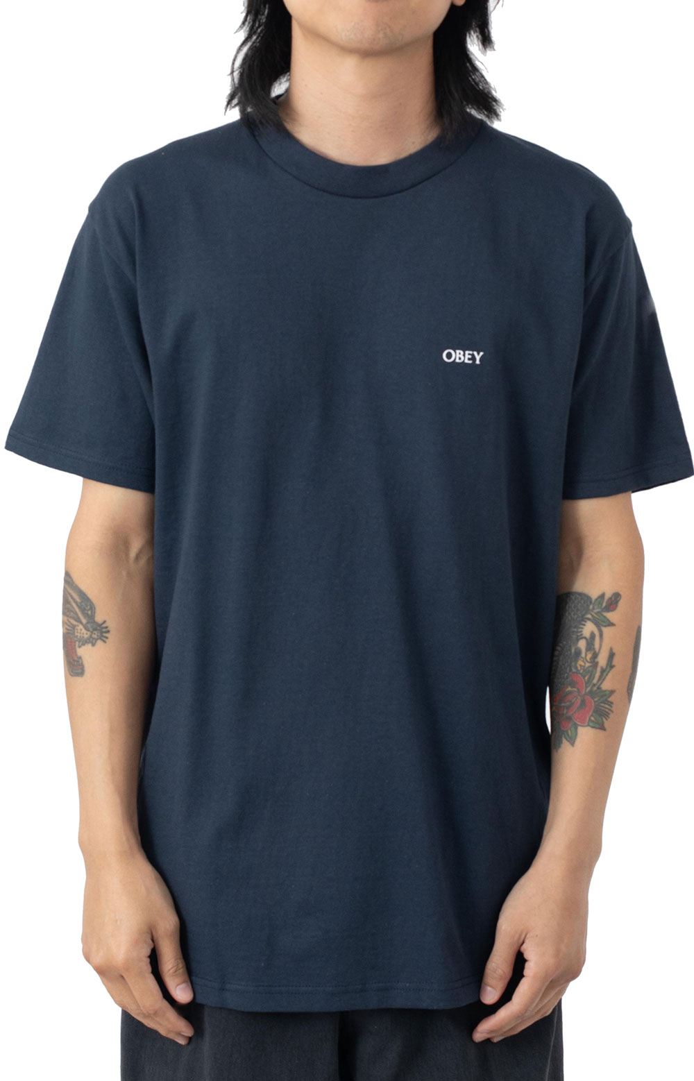 Obey Shattered Trance T-Shirt - Navy  2