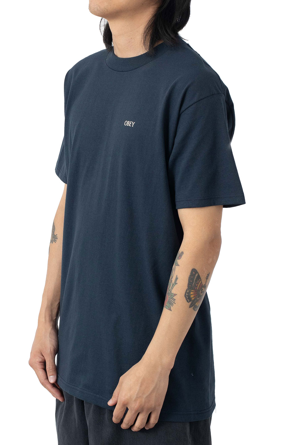 Obey Radiant Lotus T-Shirt - Navy  3