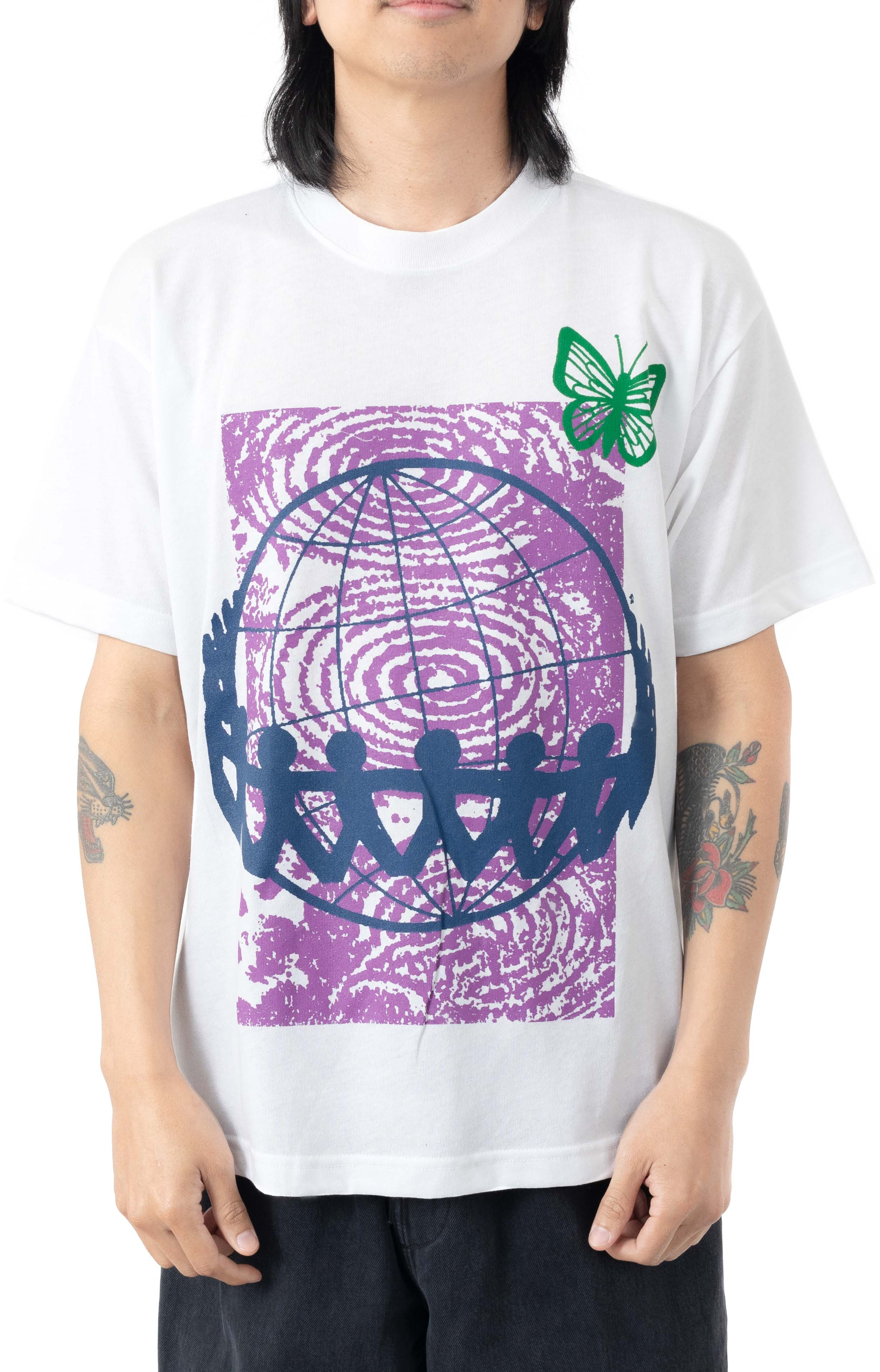 No Sides On A Round Planet 2 T-Shirt - White