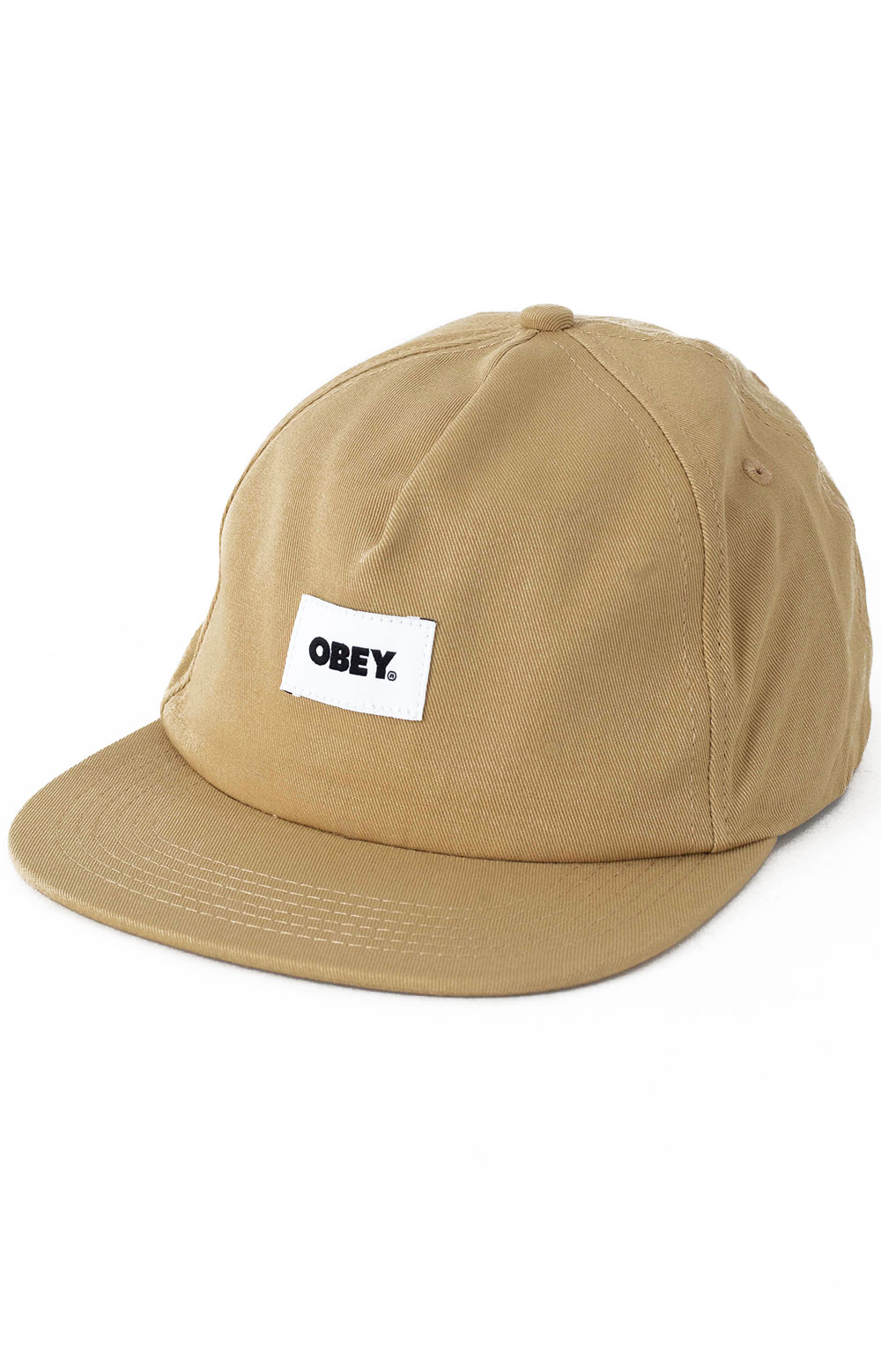 Bold Label Organic Snap-Back Hat - Almond