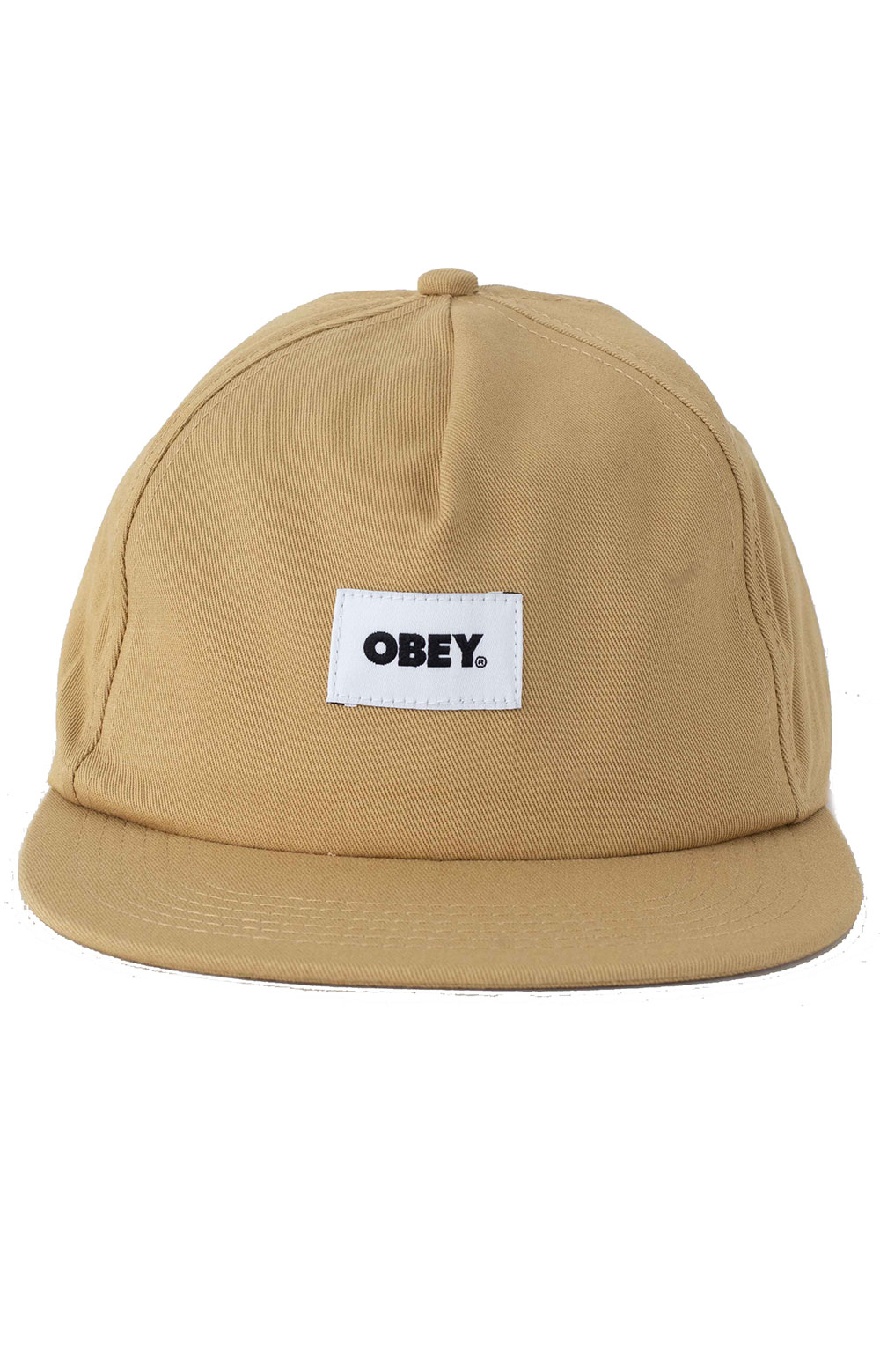 Bold Label Organic Snap-Back Hat - Almond  2