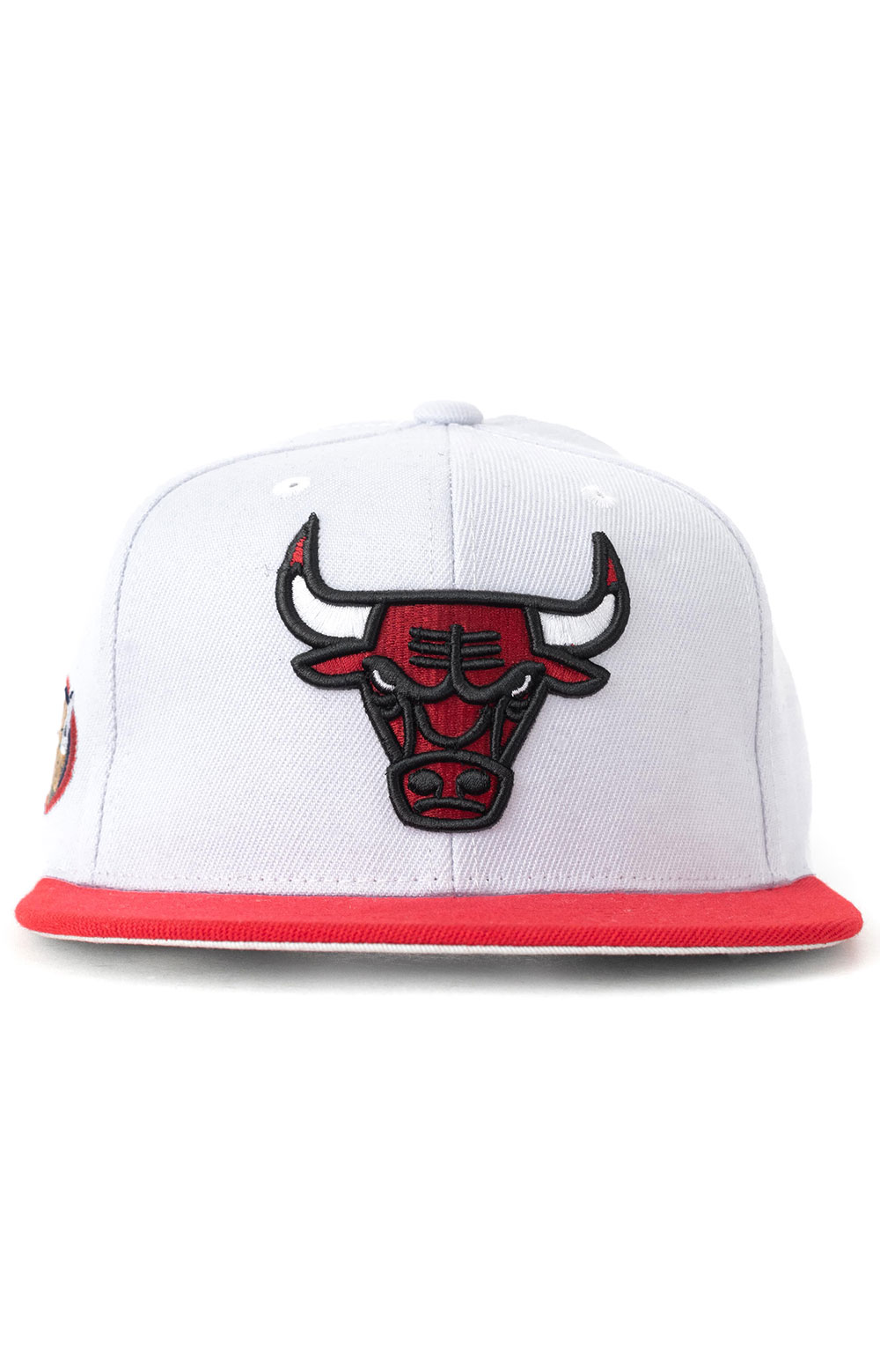 NBA Finals Patch Snap-Back Hat HWC Bulls 1998 - White/Red 3