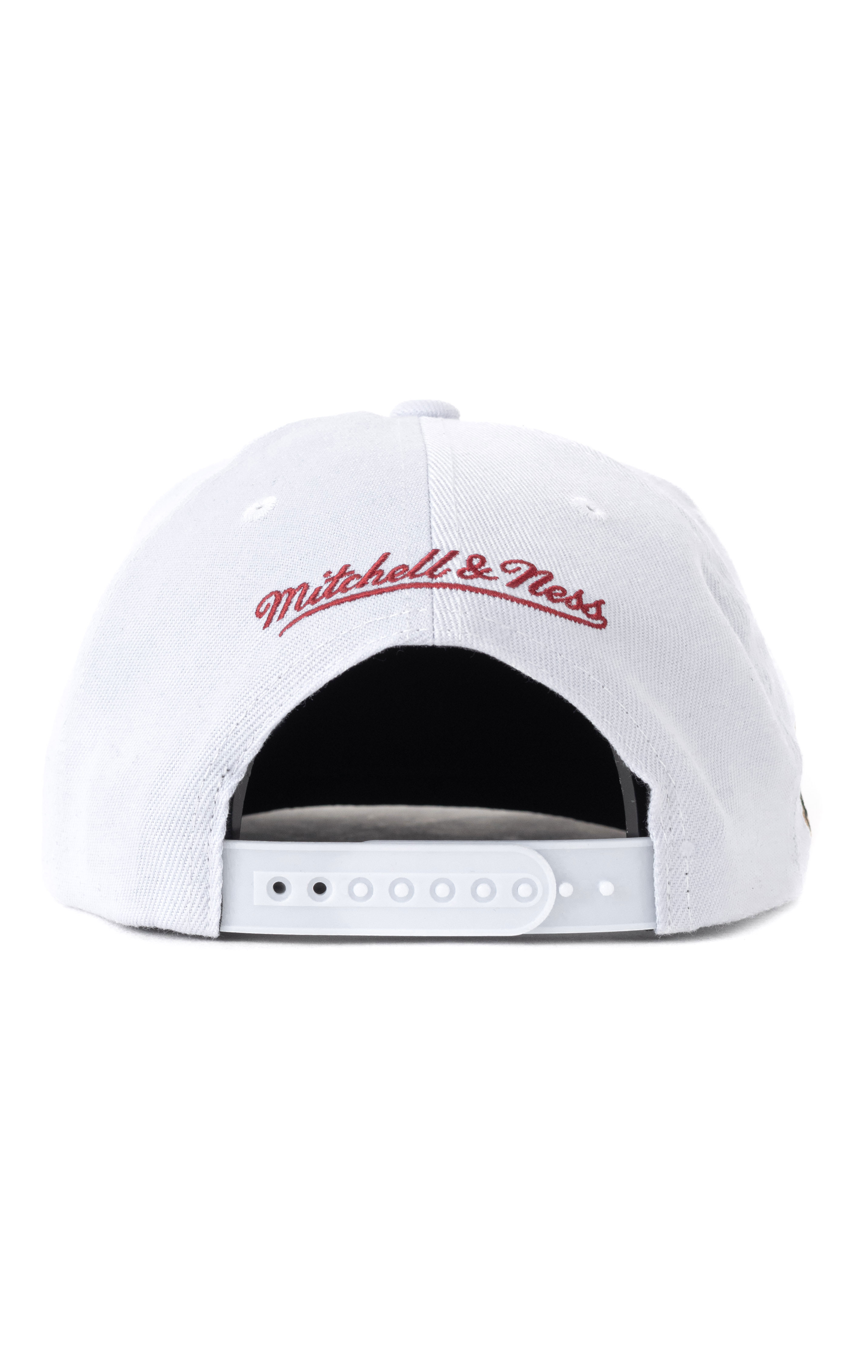 NBA Finals Patch Snap-Back Hat HWC Bulls 1998 - White/Red 4