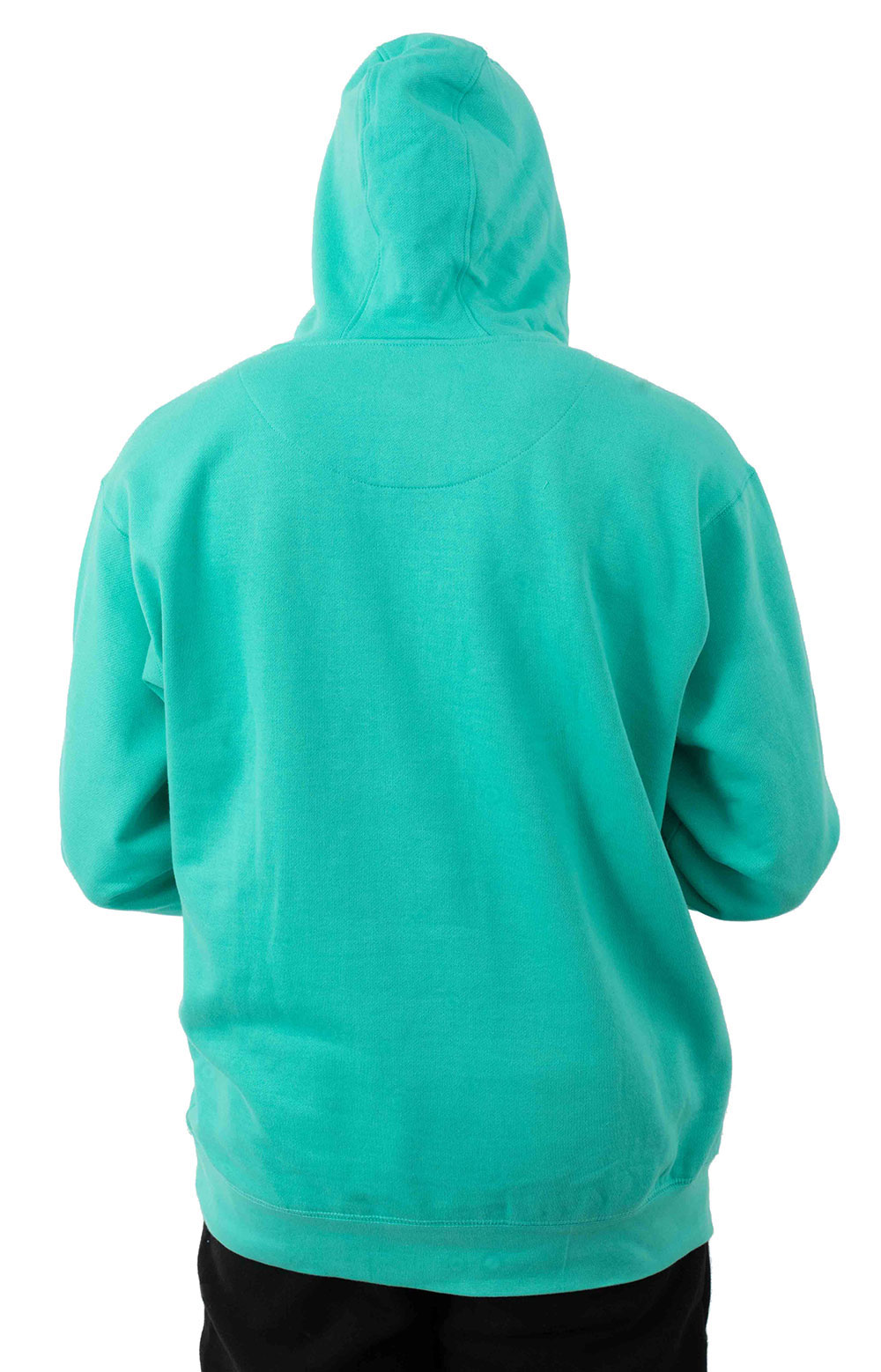 Stacked Logo Pullover Hoodie - Teal 3
