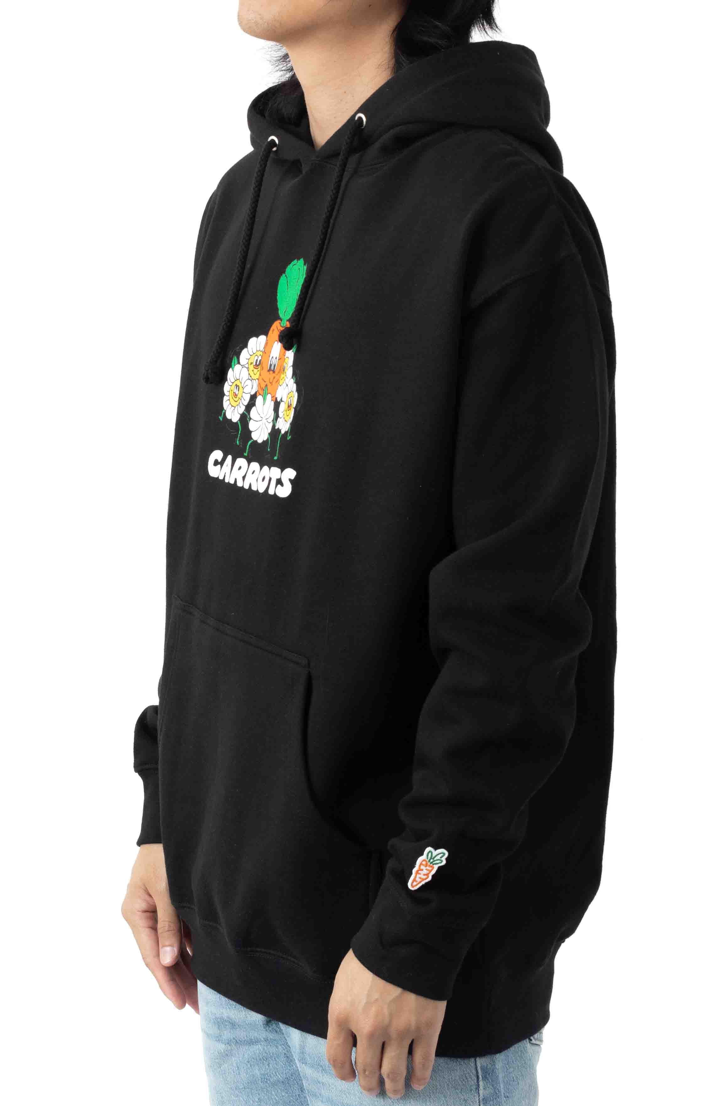 Ring Around Carrot Pullover Hoodie - Black  2