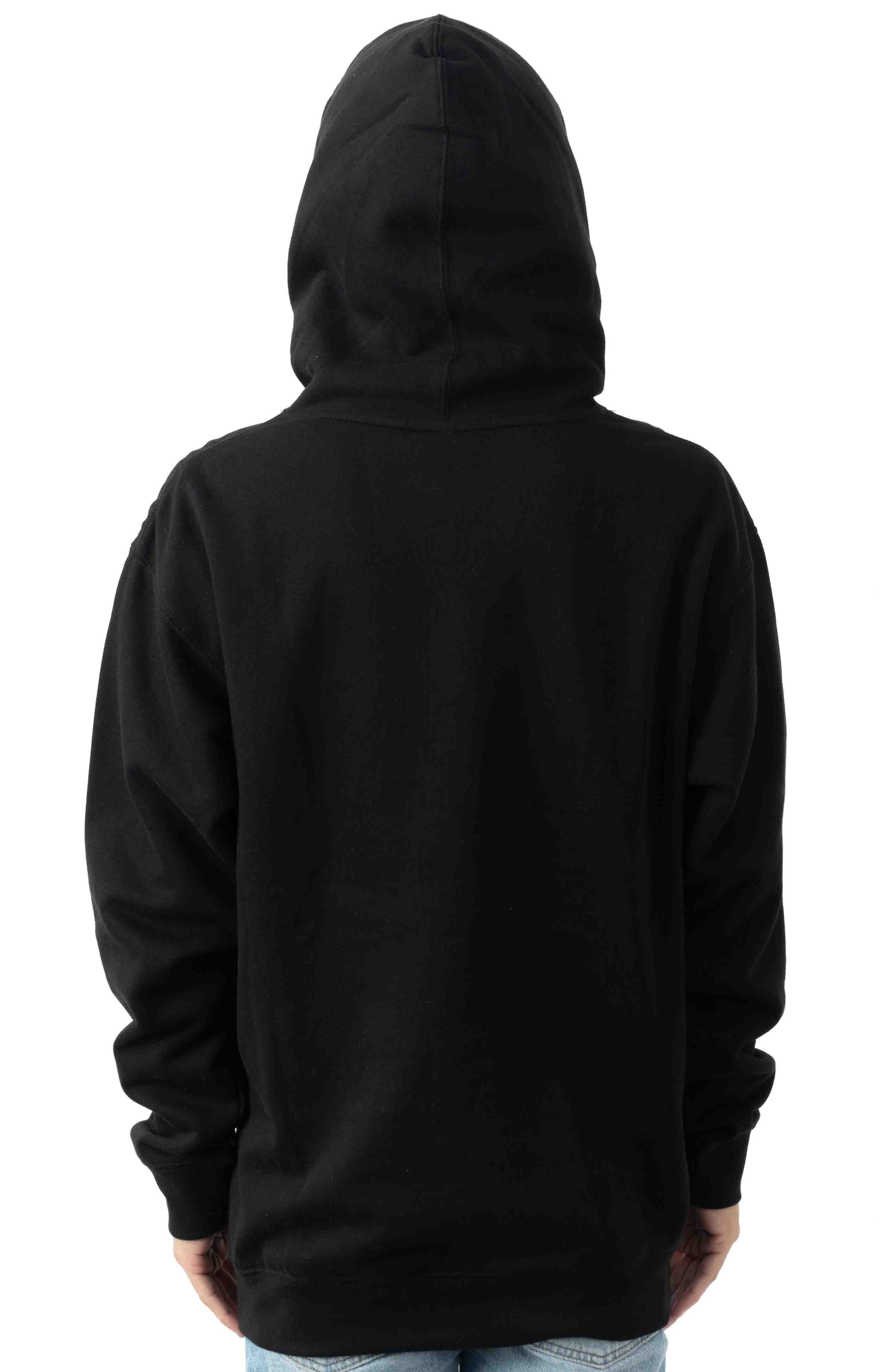 Ring Around Carrot Pullover Hoodie - Black  3