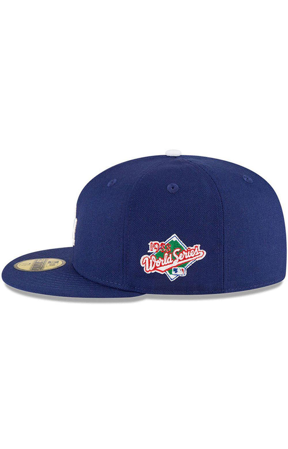 LA Dodgers 1988 World Series Wool 59Fifty Fitted Hat - Royal Blue  2